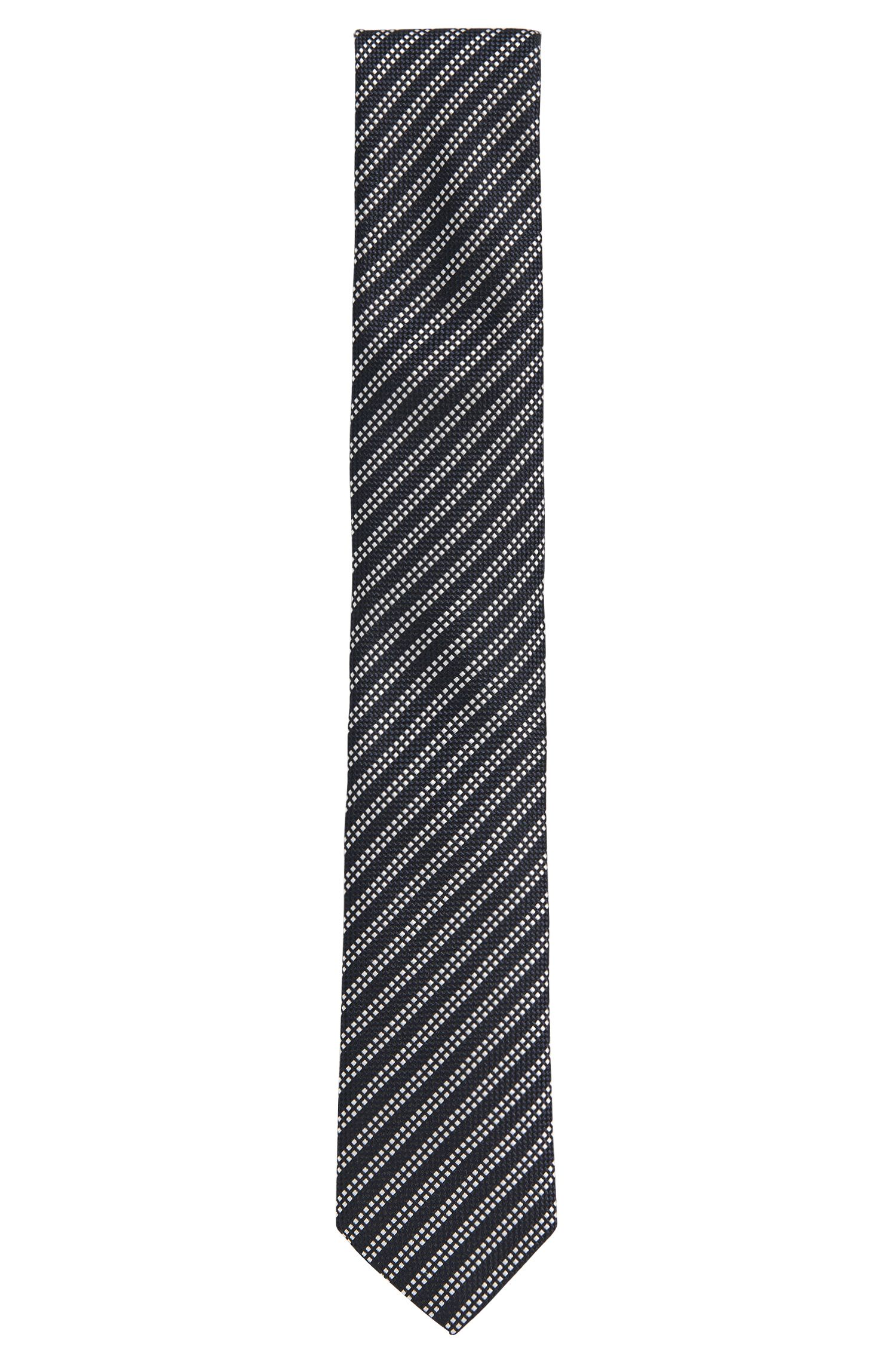 Striped pure silk tie: 'Tie 6cm'