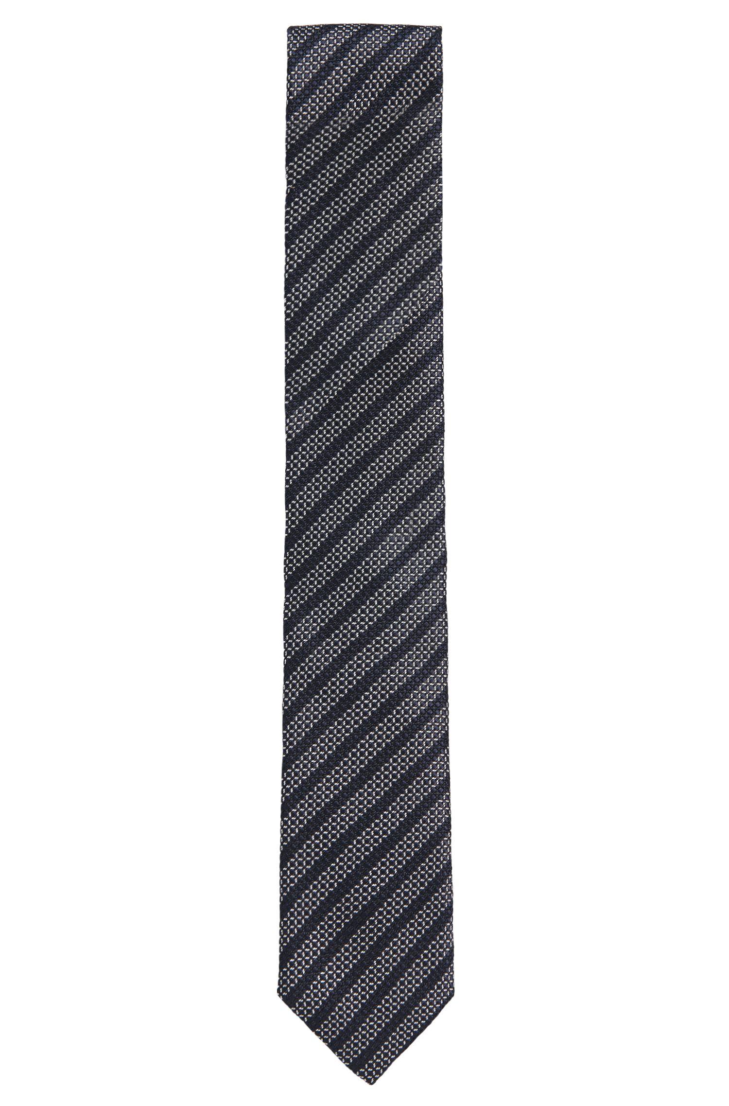 Gestreifte Krawatte aus reiner Seide: 'Tie 6 cm'