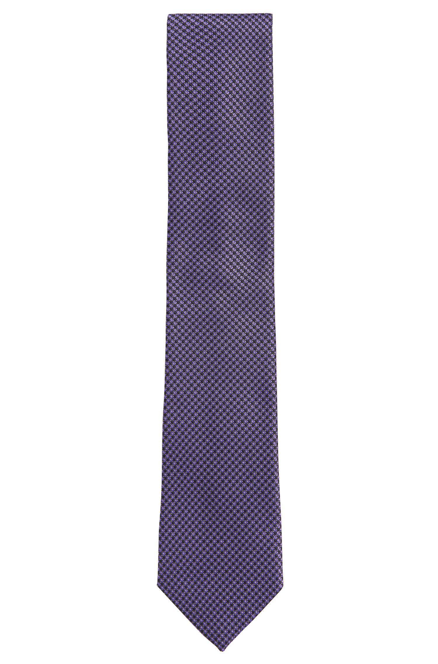 Gemusterte Krawatte aus reiner Seide: 'Tie 7,5 cm'