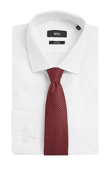 Gemusterte Krawatte aus reiner Seide: 'Tie 7,5 cm', Rot