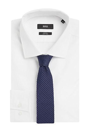 Krawatte aus Baumwoll-Mix mit Seide: 'Tie 6 cm', Dunkelblau