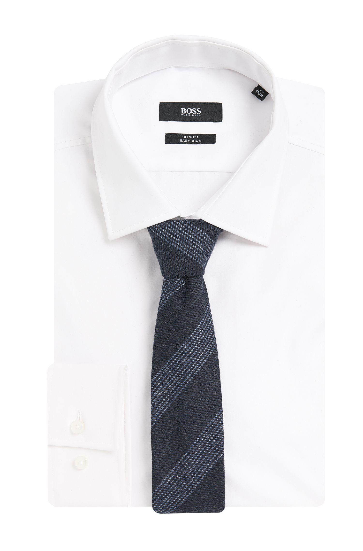Gestreifte Krawatte aus Baumwoll-Mix mit Seide: 'Tie 6 cm'