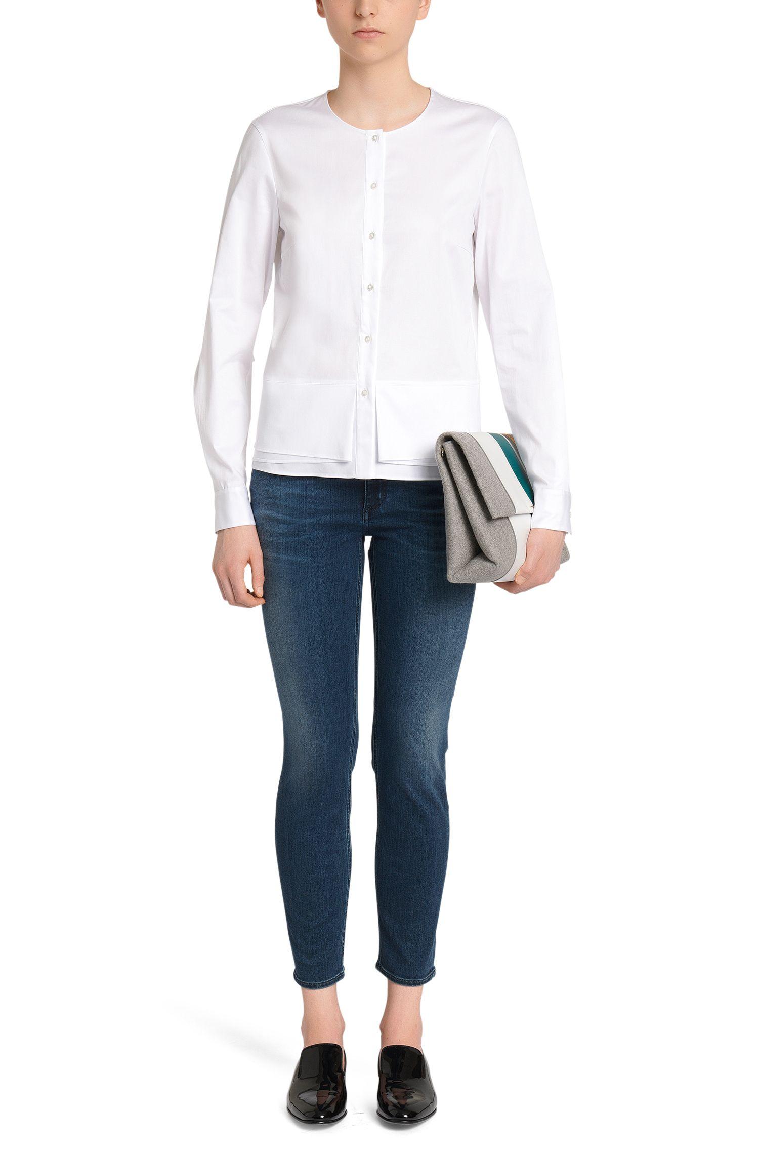 Regular-Fit Jeans aus Baumwoll-Mix mit Used-Waschung: 'Nelin'