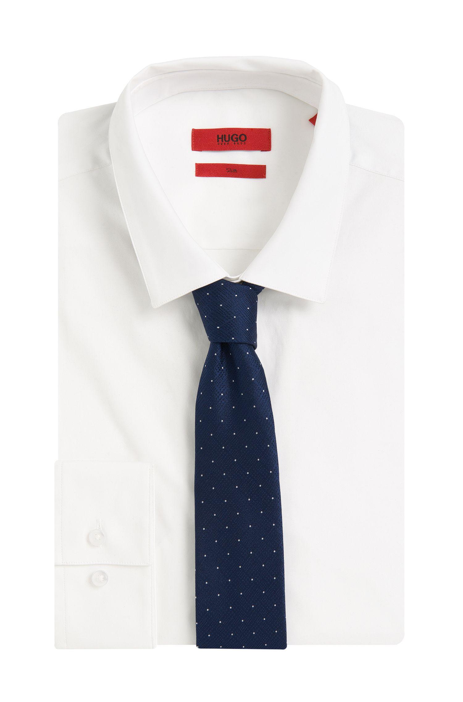 Gepunktete Krawatte aus Seide: 'Tie cm 6'