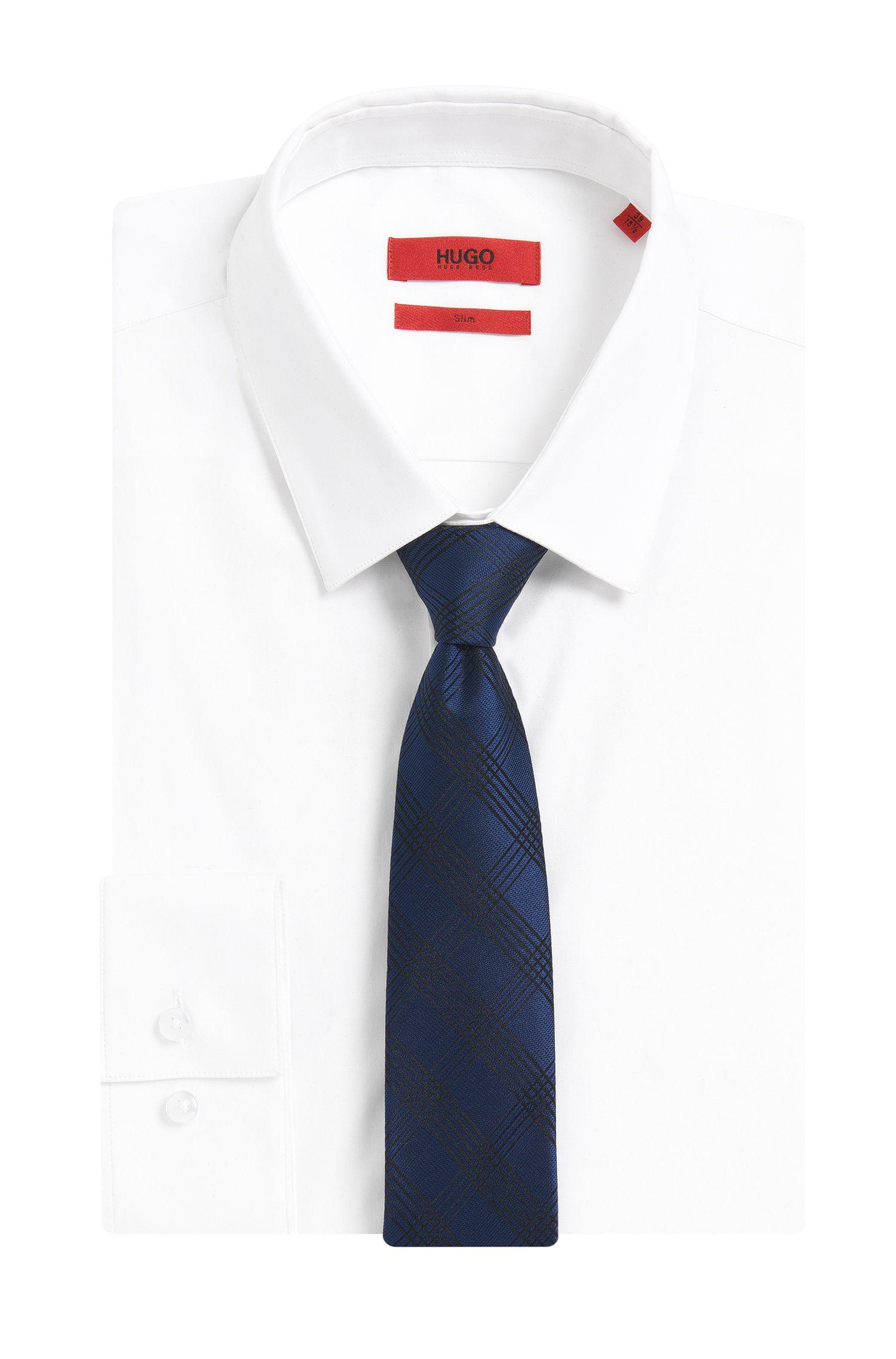 Cravate en soie ornée d'un motif à carreaux: «Tie cm6»
