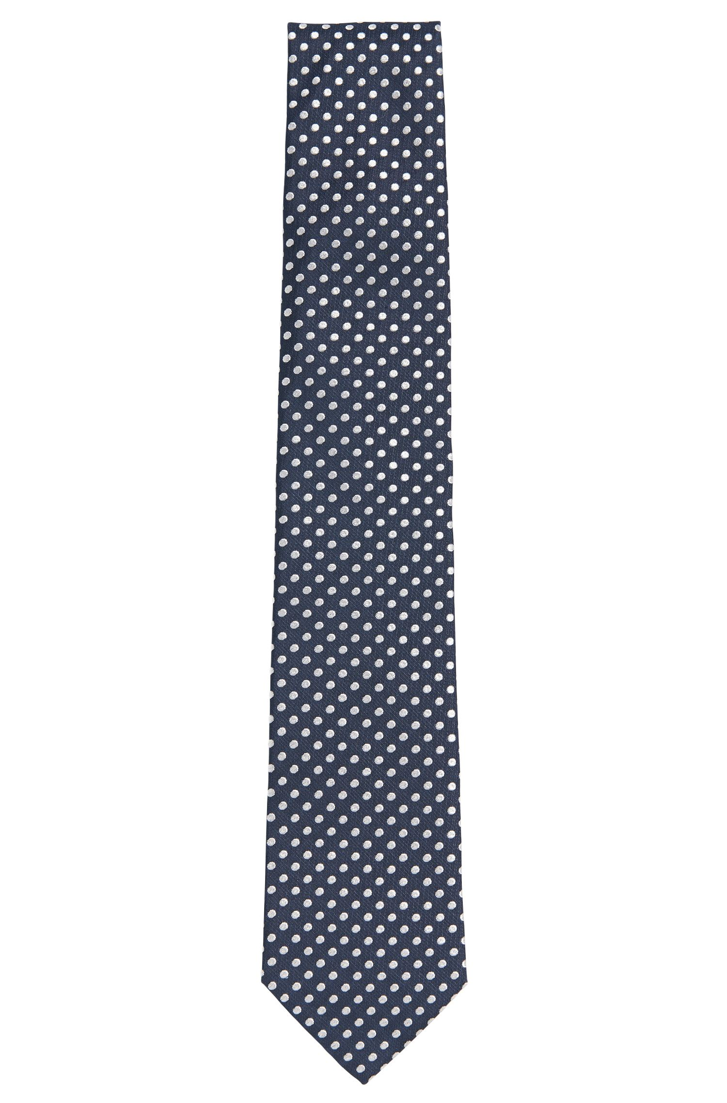 Silk tie with all-over pattern: 'Tie 7.5 cm'