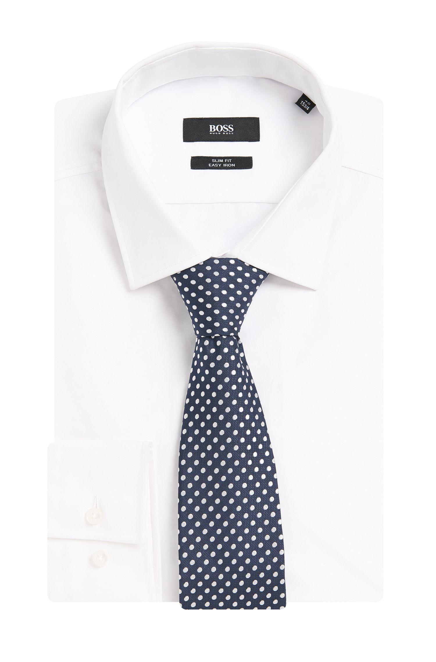 Krawatte aus Seide mit Allover-Muster: 'Tie 7,5 cm'