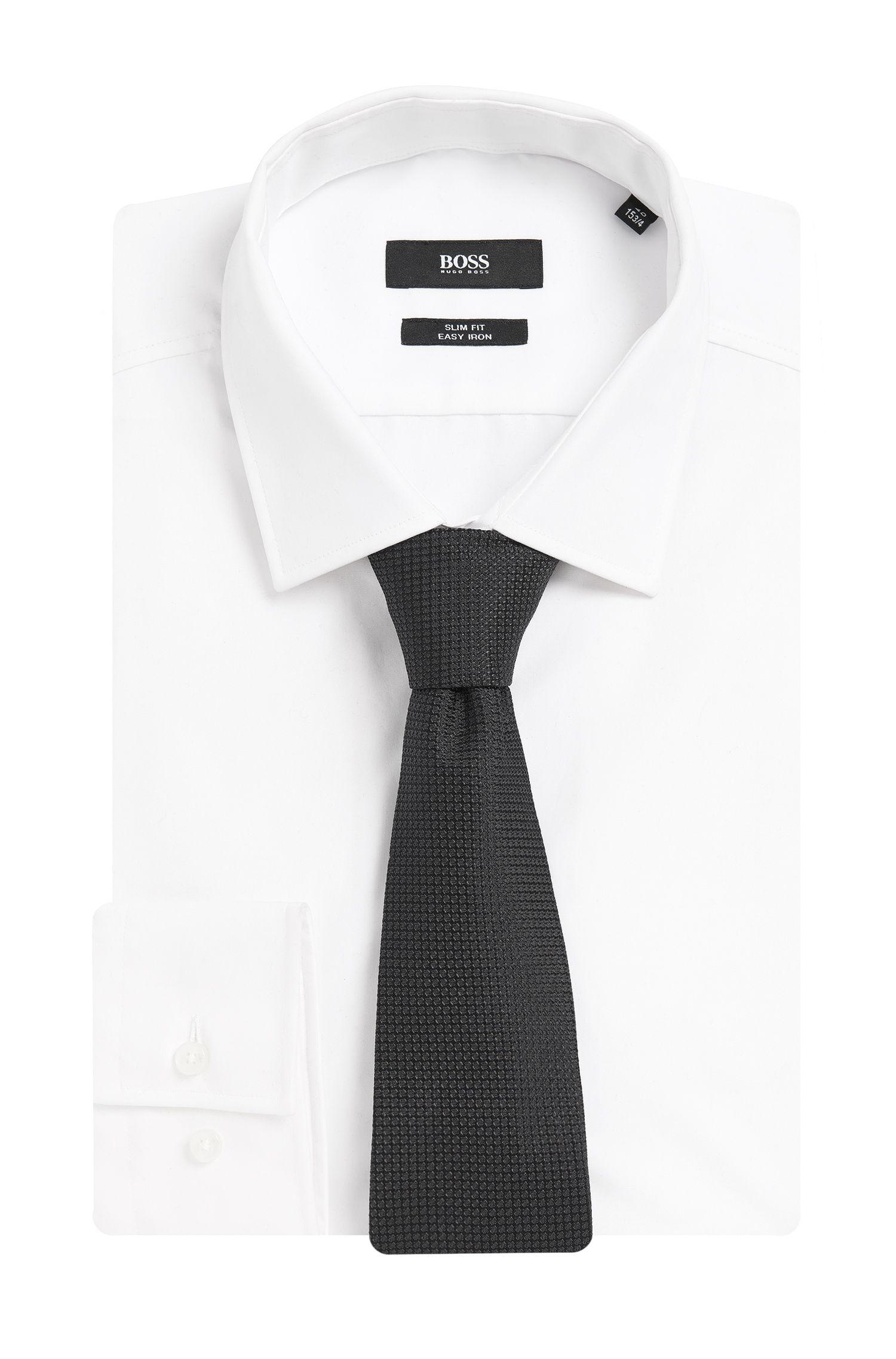 Gestructureerde stropdas van zuivere zijde: 'Tie 7,5 cm'