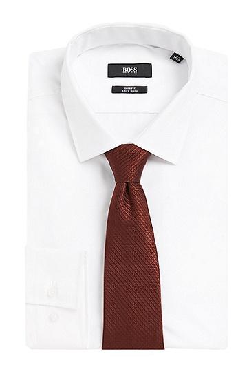Strukturierte Krawatte aus reiner Seide: 'Tie 7,5 cm', Rot
