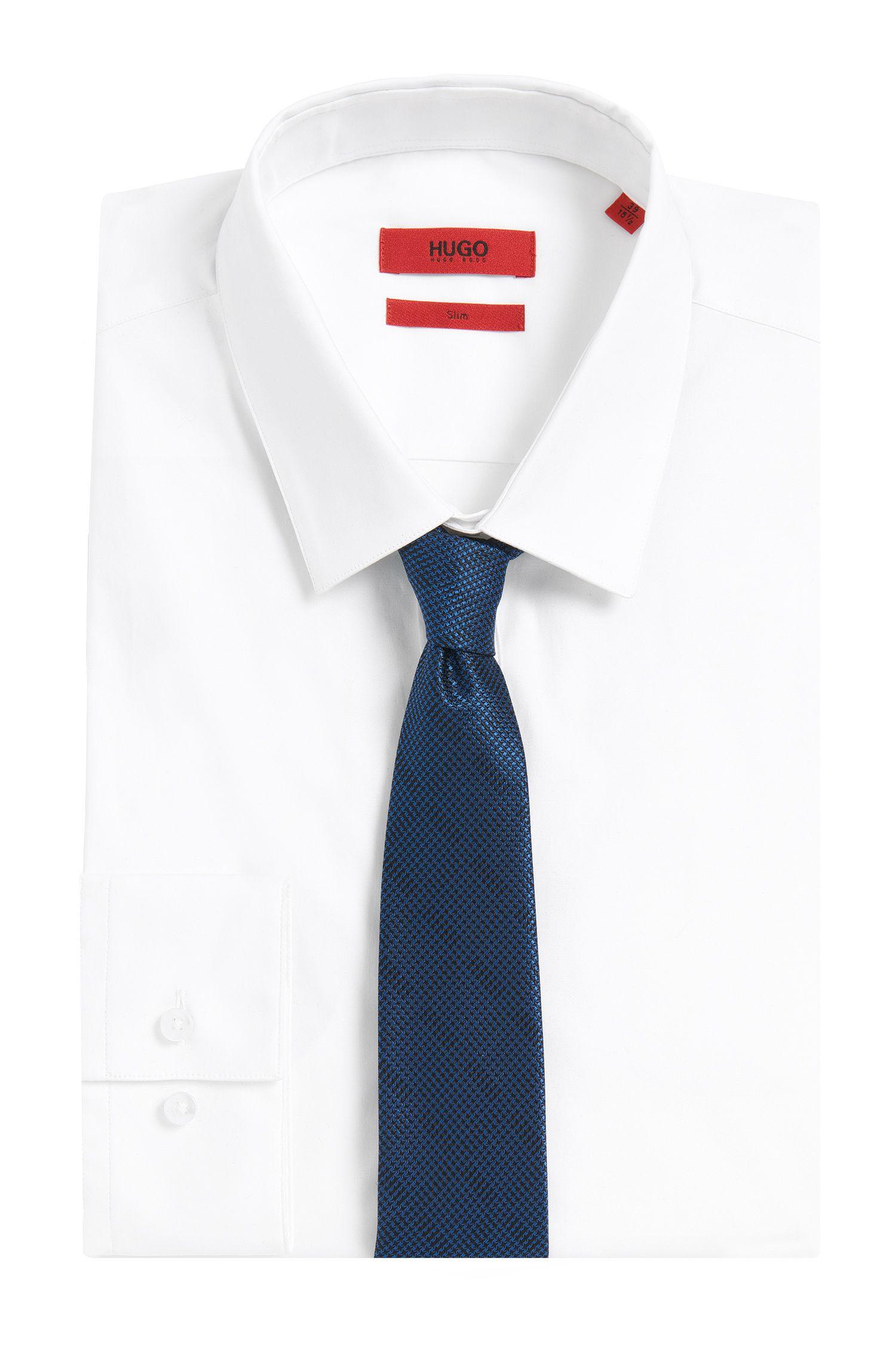 Krawatte aus Seide mit angedeutetem Karo-Muster: 'Tie cm 6'