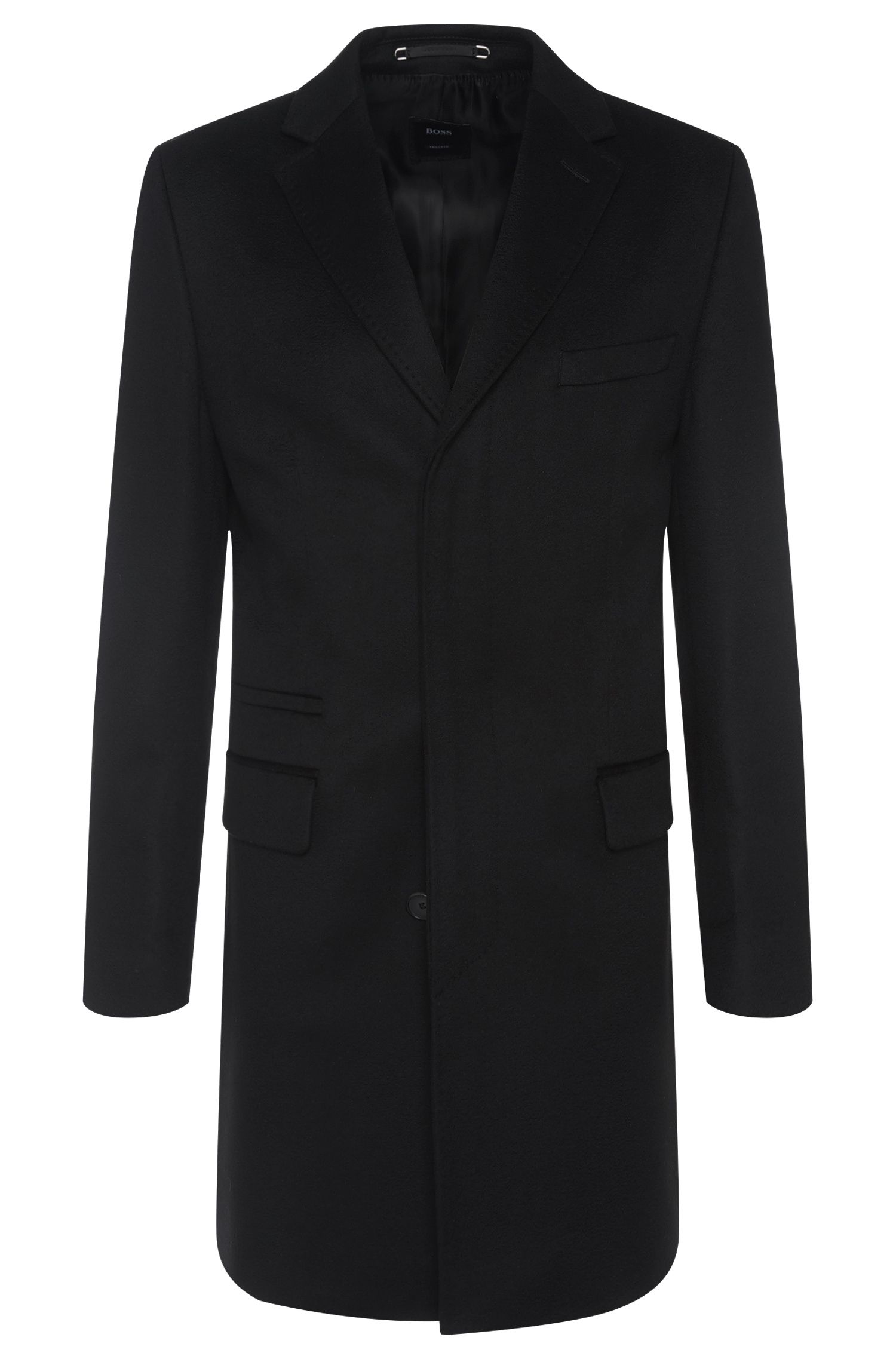 Regular-fit Tailored coat in cashmere: 'T-Neon1'