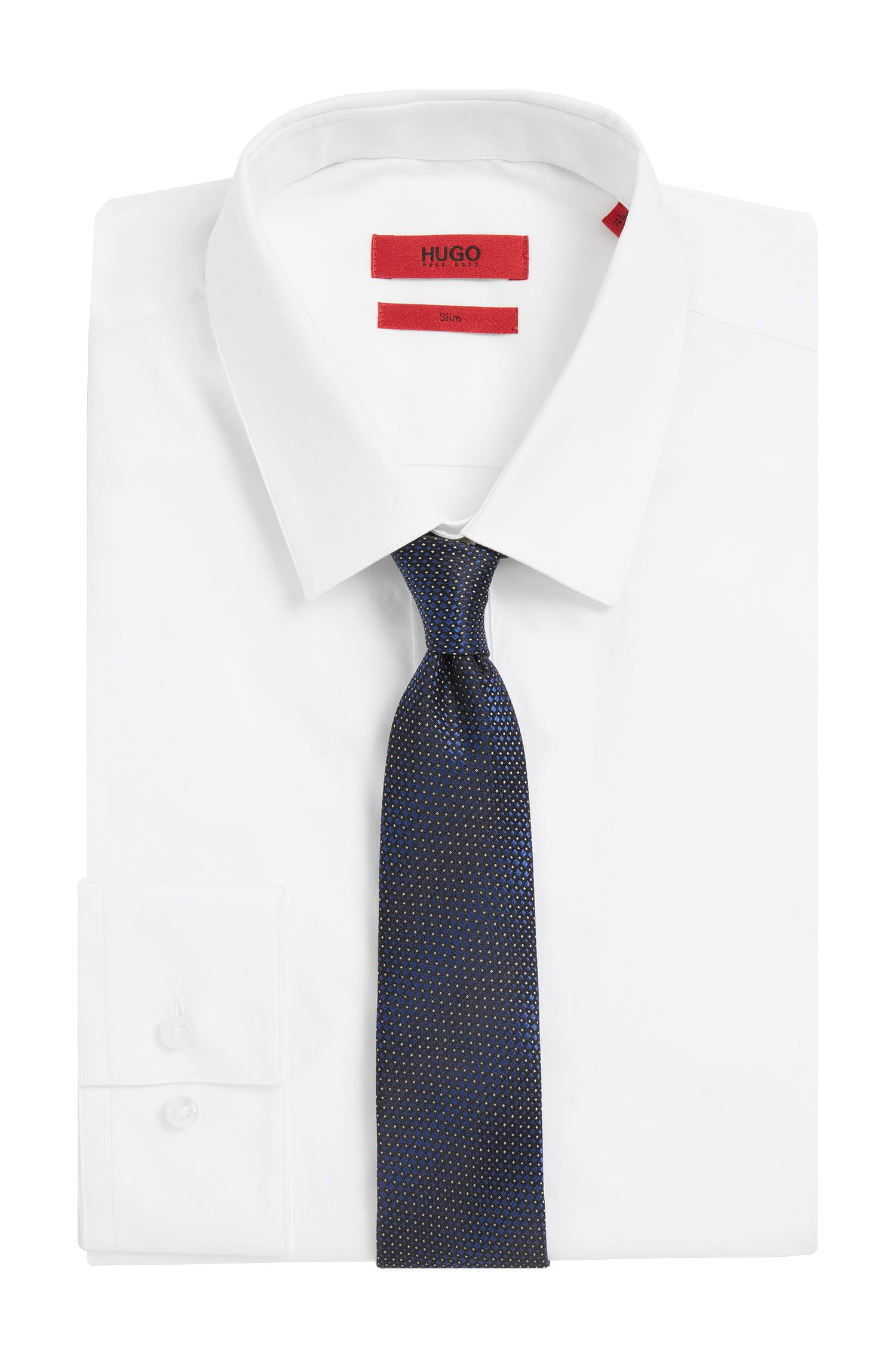 Fein gepunktete Krawatte aus Seide: 'Tie cm 6'
