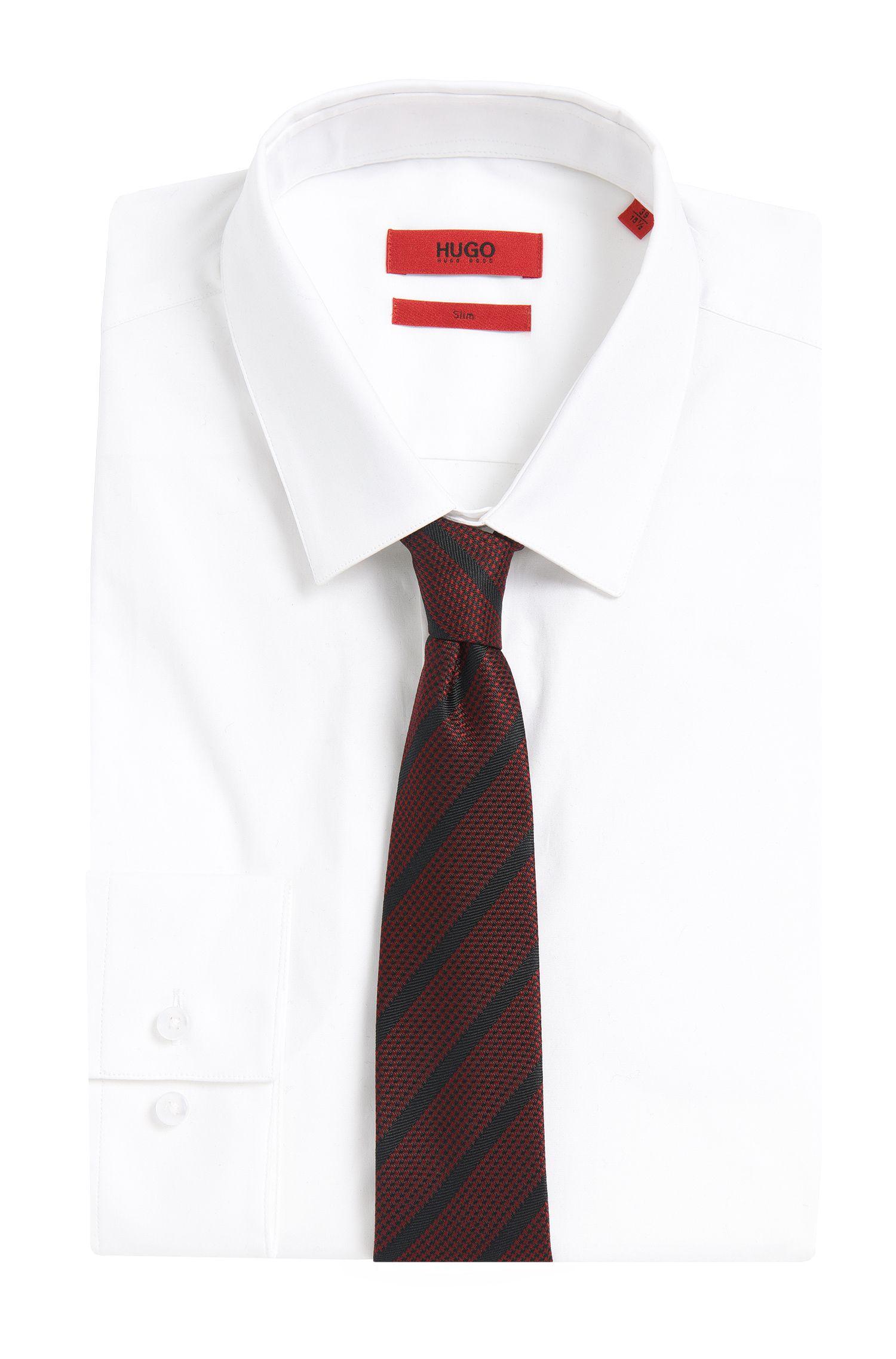 Gestreepte stropdas van zijde: 'Tie cm 6'