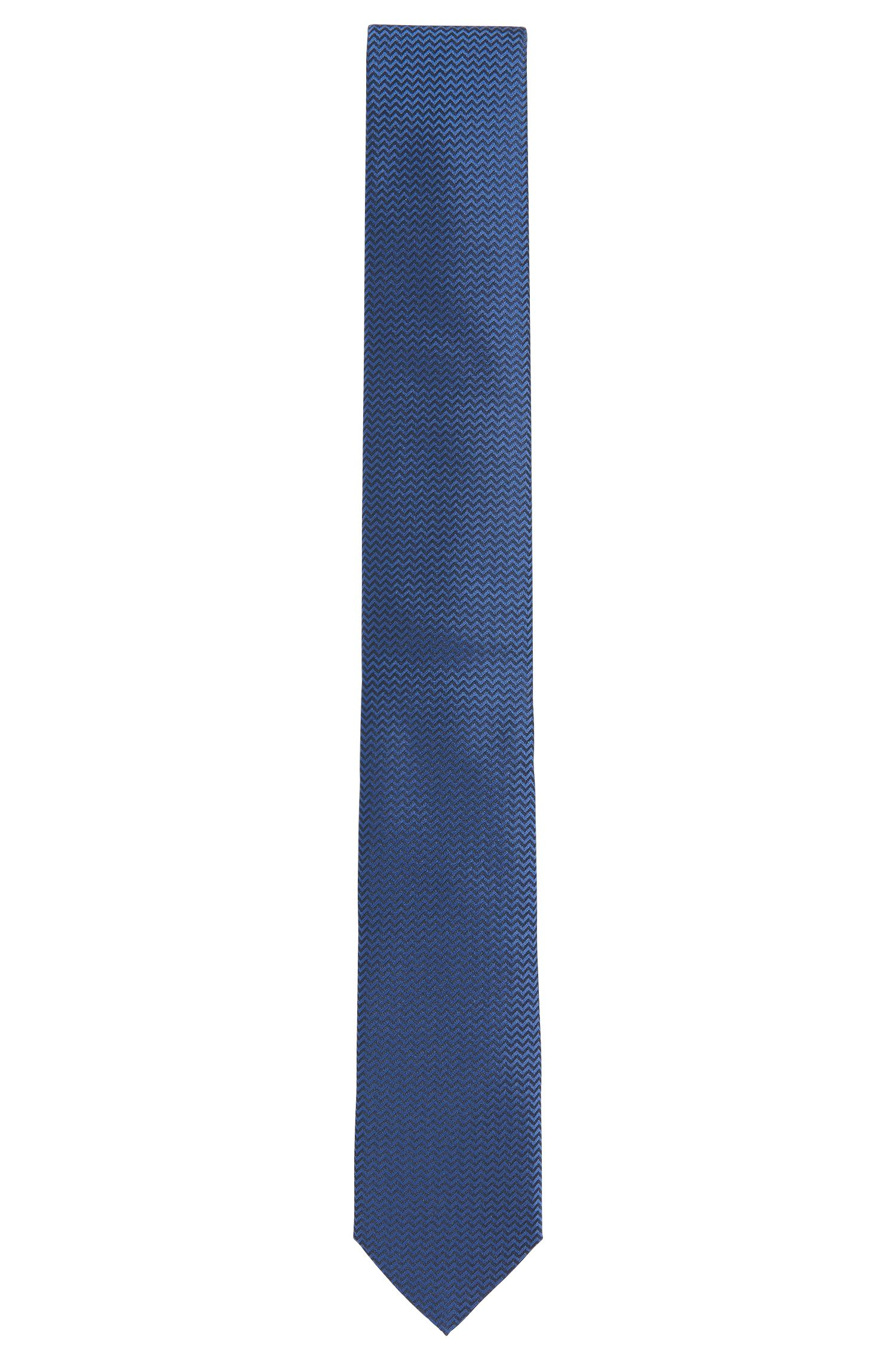 Cravatta in seta con motivo a zig zag: 'Tie 6 cm'