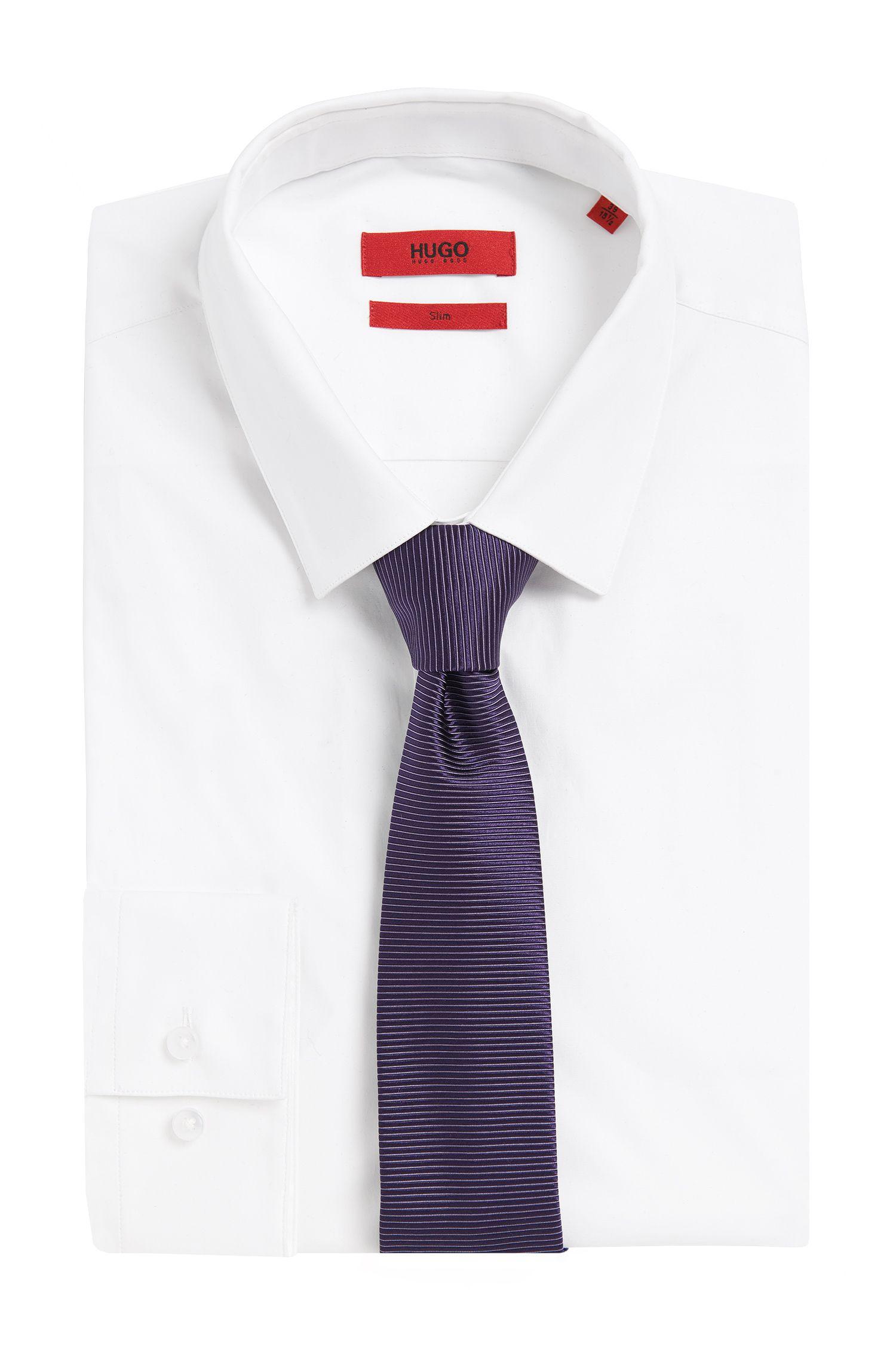 Quer gestreifte Krawatte aus Seide: 'Tie cm 6'