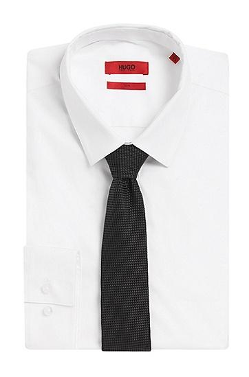Krawatte aus Seide mit Allover-Muster: 'Tie cm 6', Schwarz