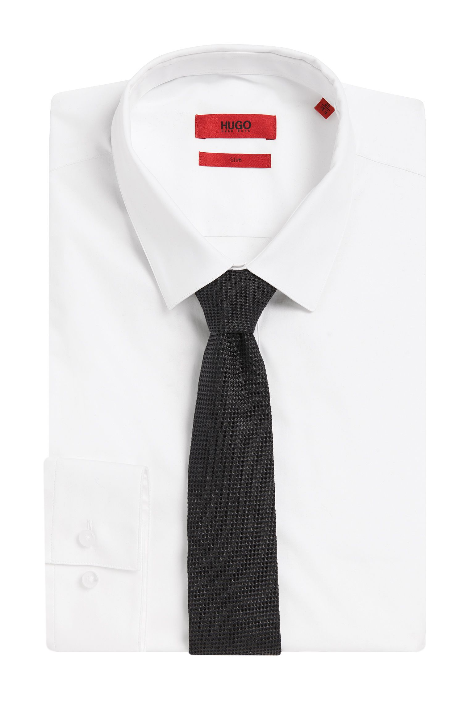 Stropdas van zijde met all-over dessin: 'Tie cm 6'