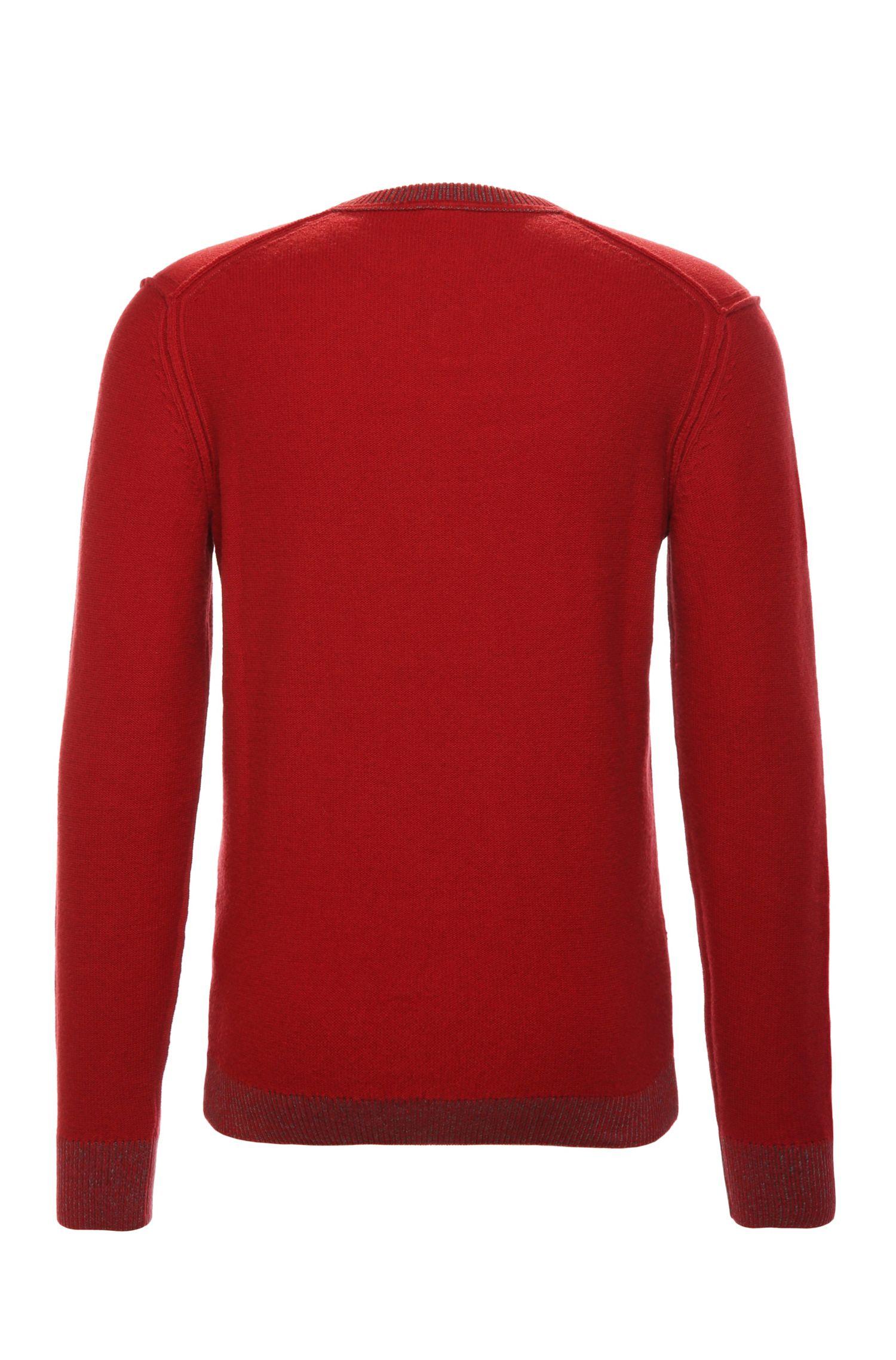 Pull à maille Slim-Fit en matières mélangées à base de coton et de laine: «Amindas»