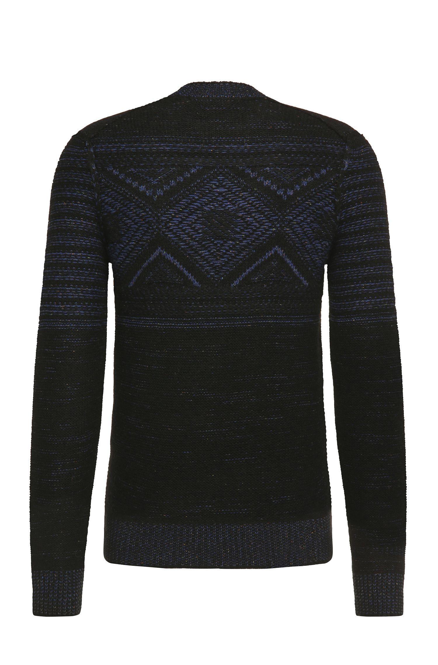 Slim-fit trui van een materiaalmix met wol, alpaca, viscose en zijde: 'Kordejan'