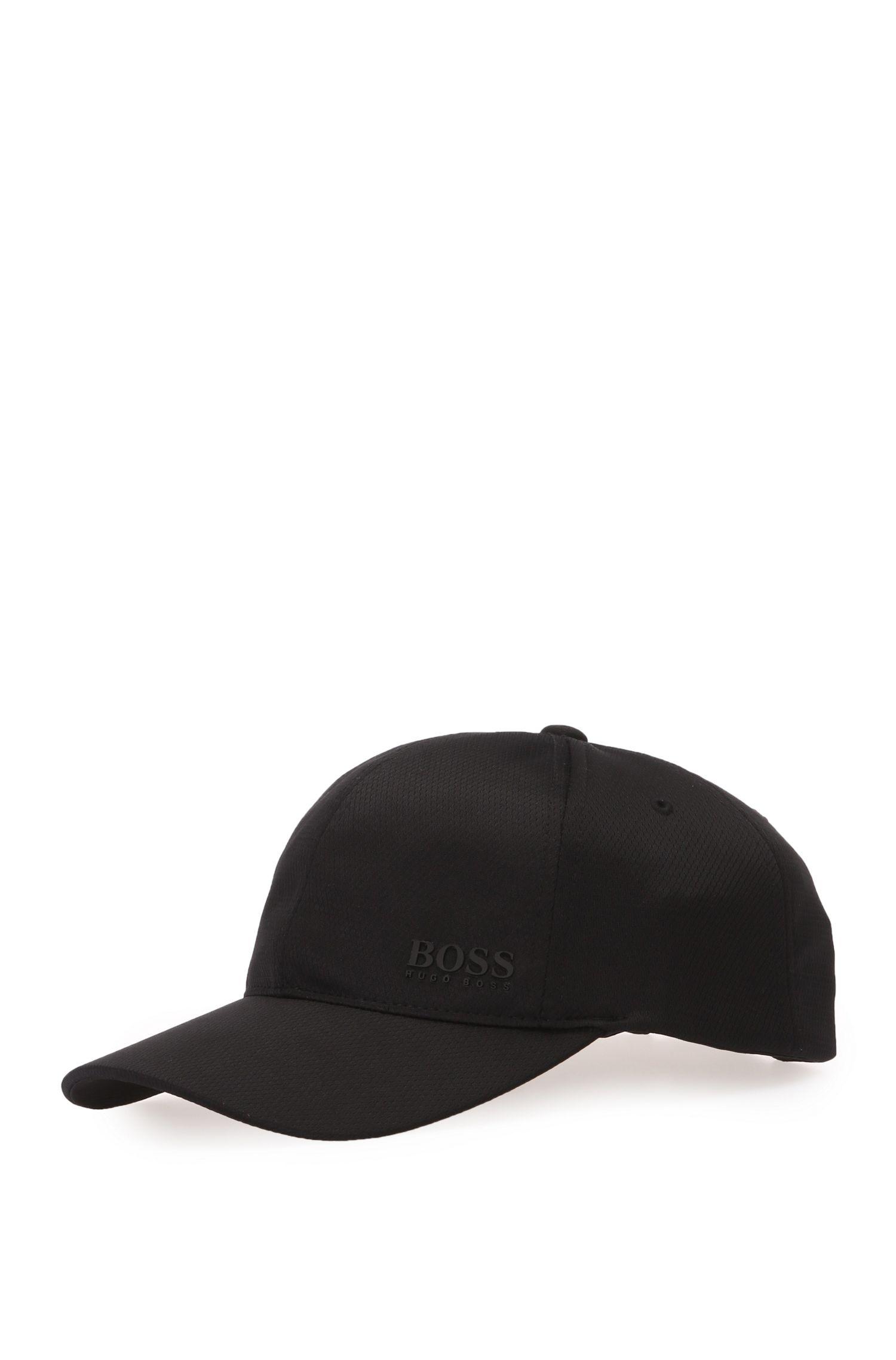 Unifarbene Cap aus texturiertem Material: ´Herringbone Printcap`