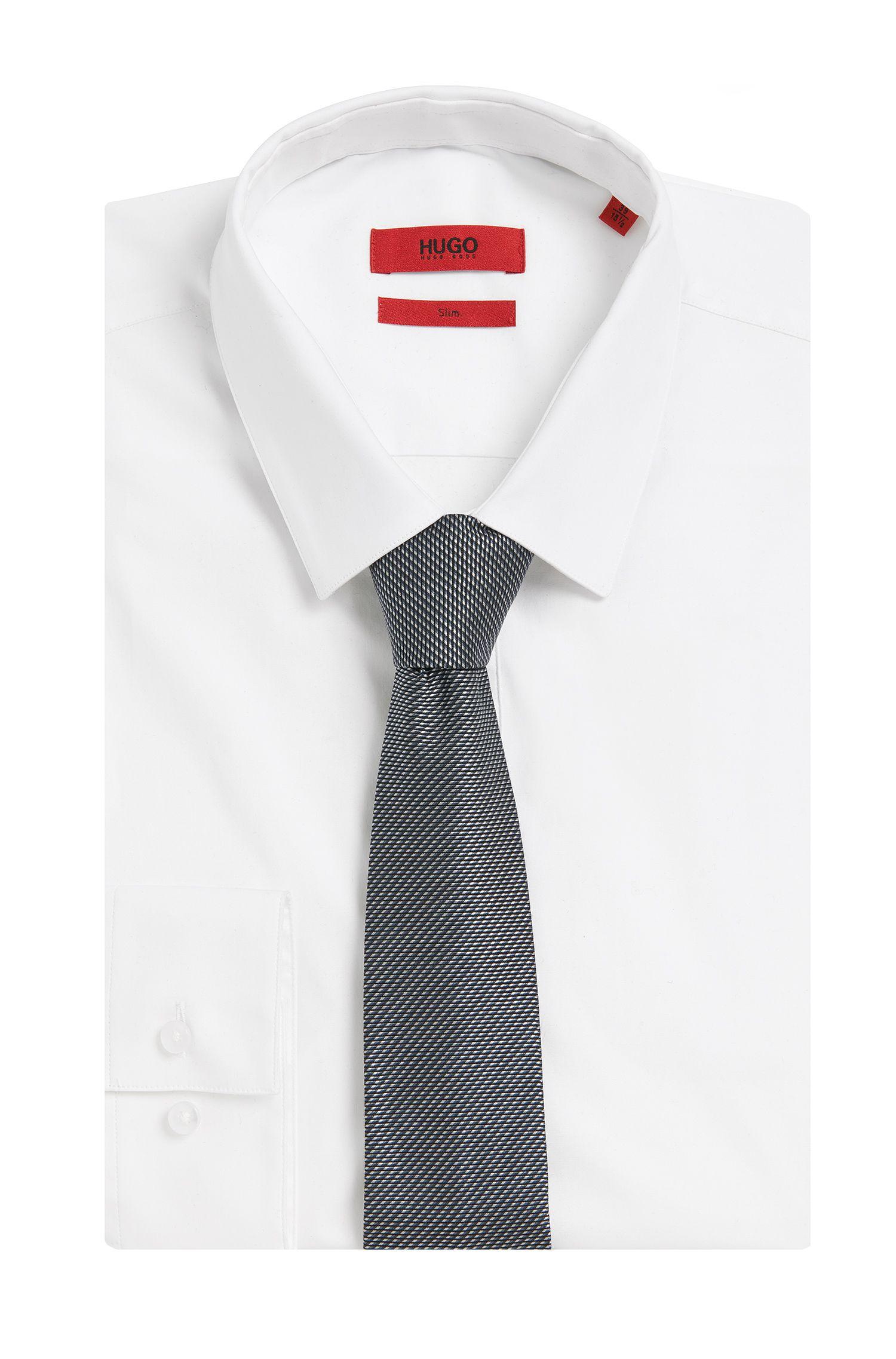 Stropdas van zijde met dessin: 'Tie cm 6'