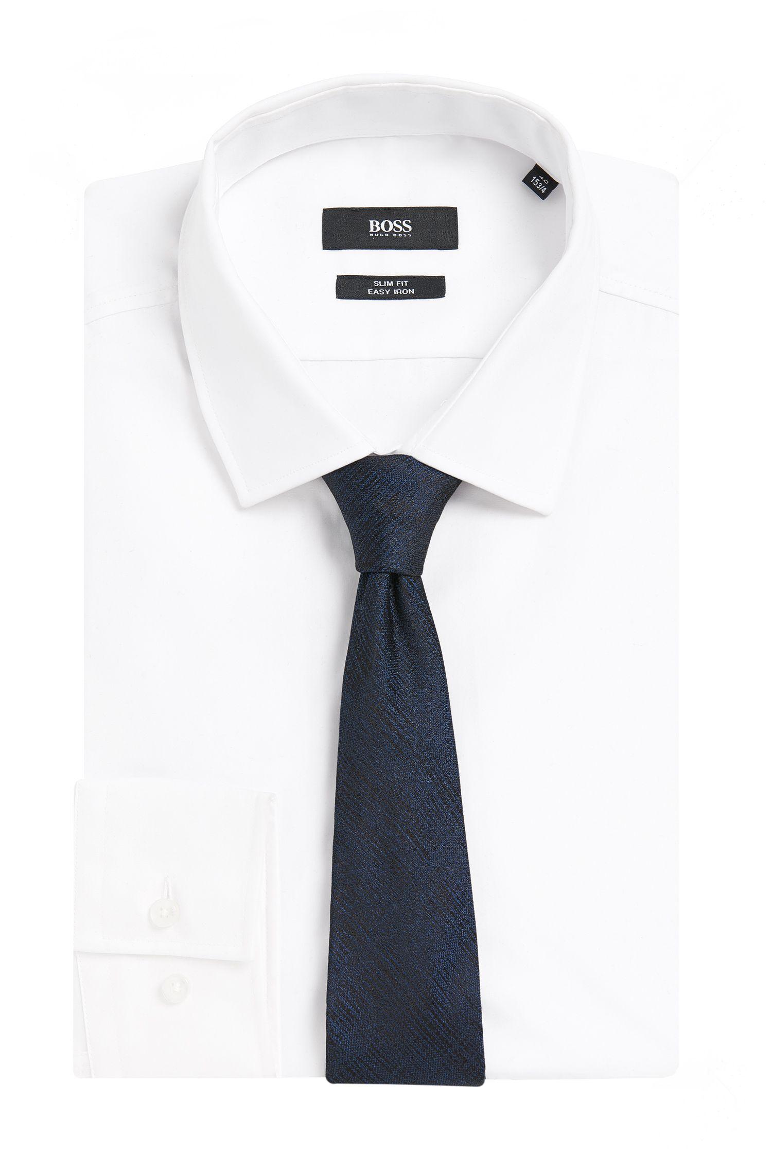 Tailored Krawatte aus Seide in schraffierter Optik: 'T-Tie 6 cm'