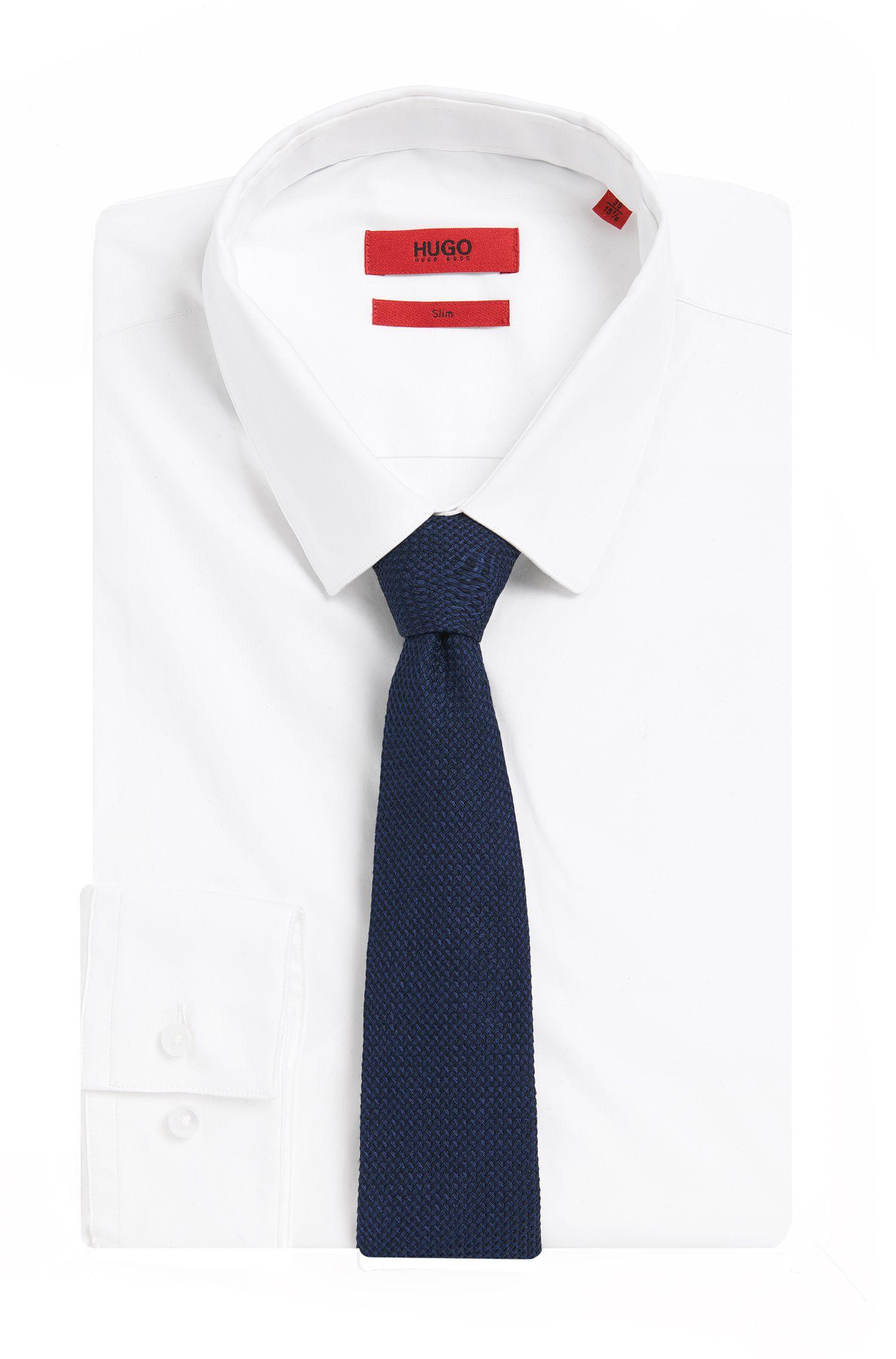 Krawatte aus Seiden-Mix mit dezentem Struktur-Muster: 'Tie cm 6'
