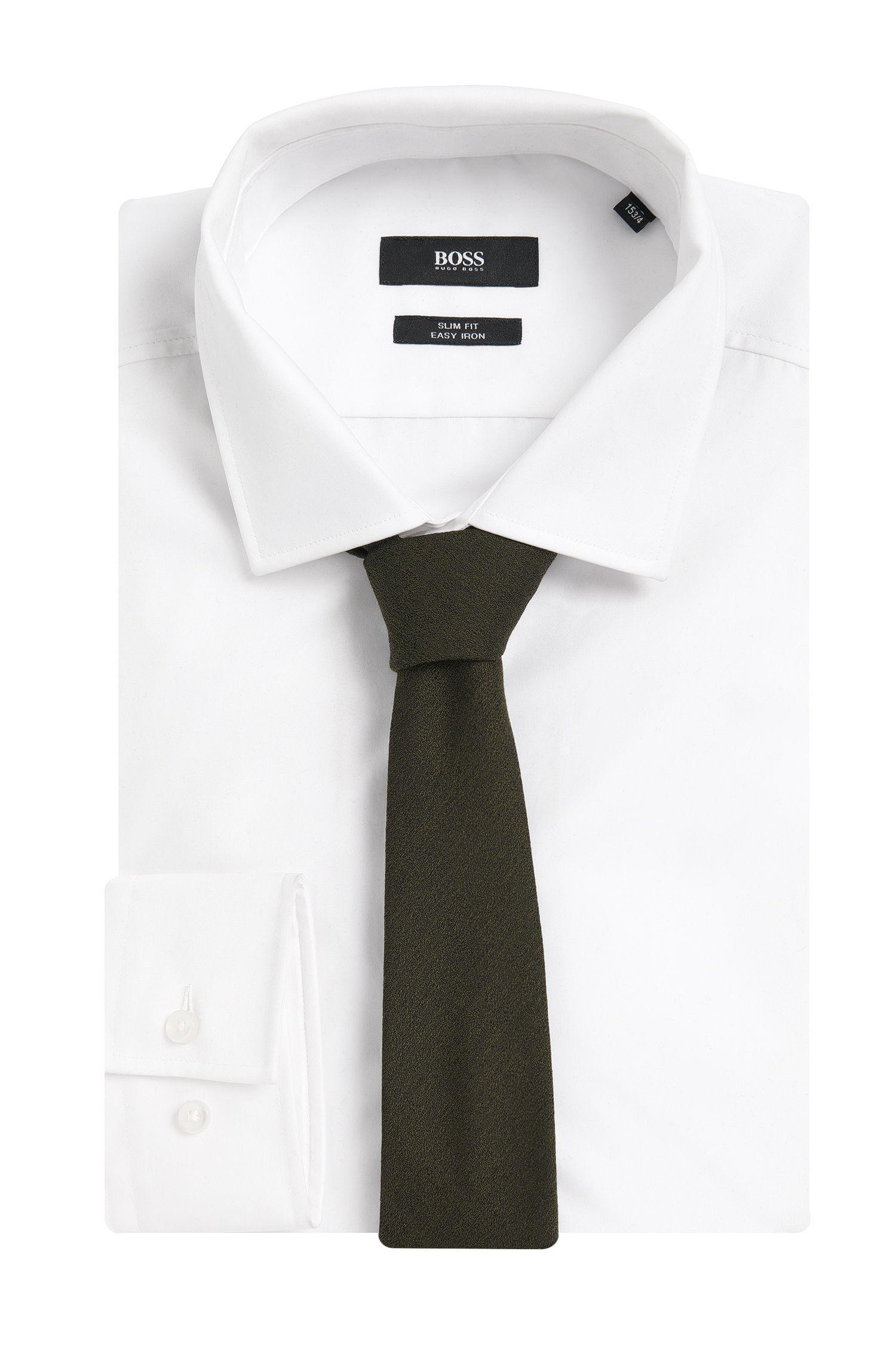 Cravate unie Tailored en laine mélangée à de la soie: « T-Tie6cm»