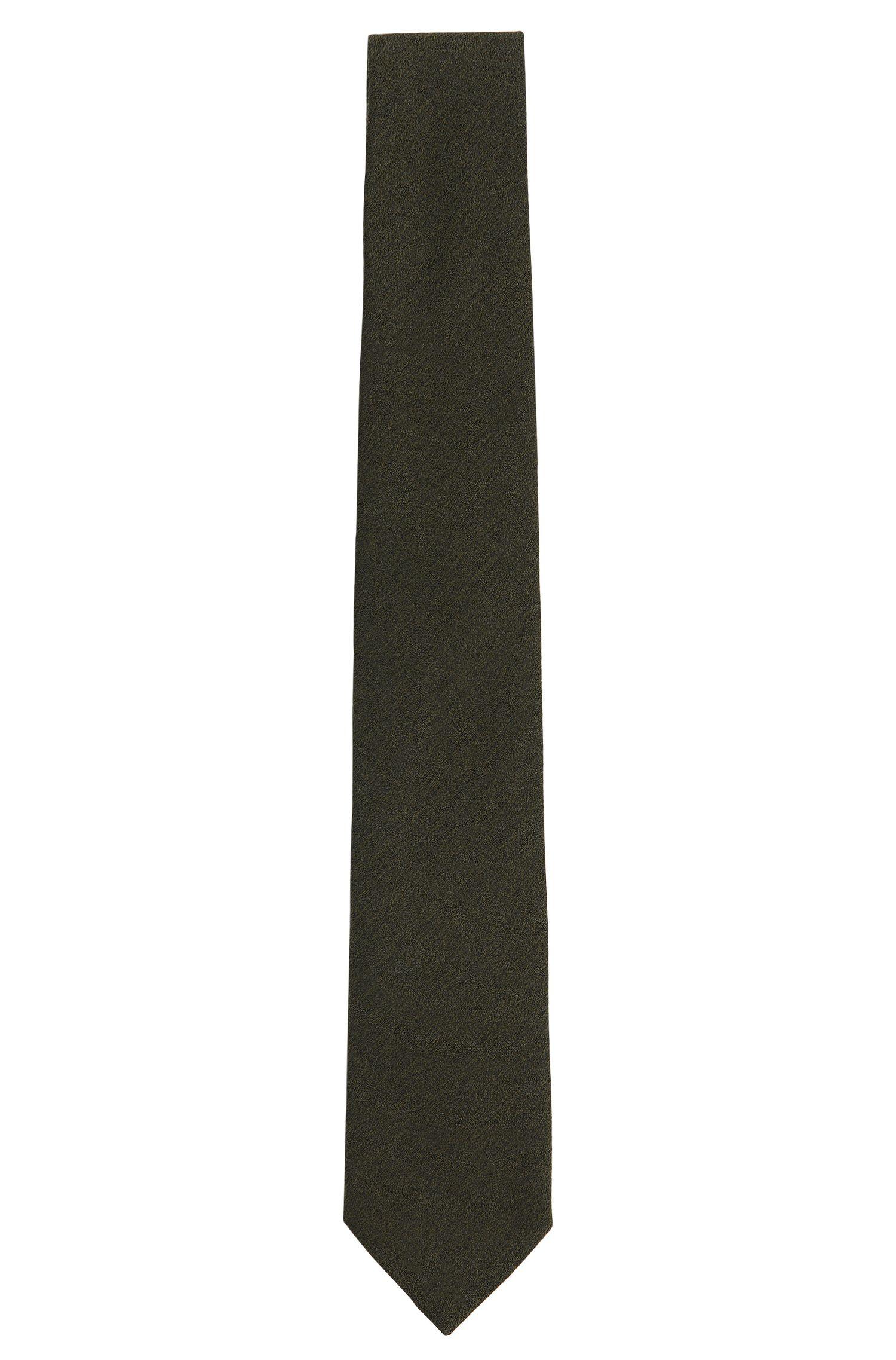 Unifarbene Tailored Krawatte aus Woll-Mix mit Seide: ' T-Tie 6 cm'