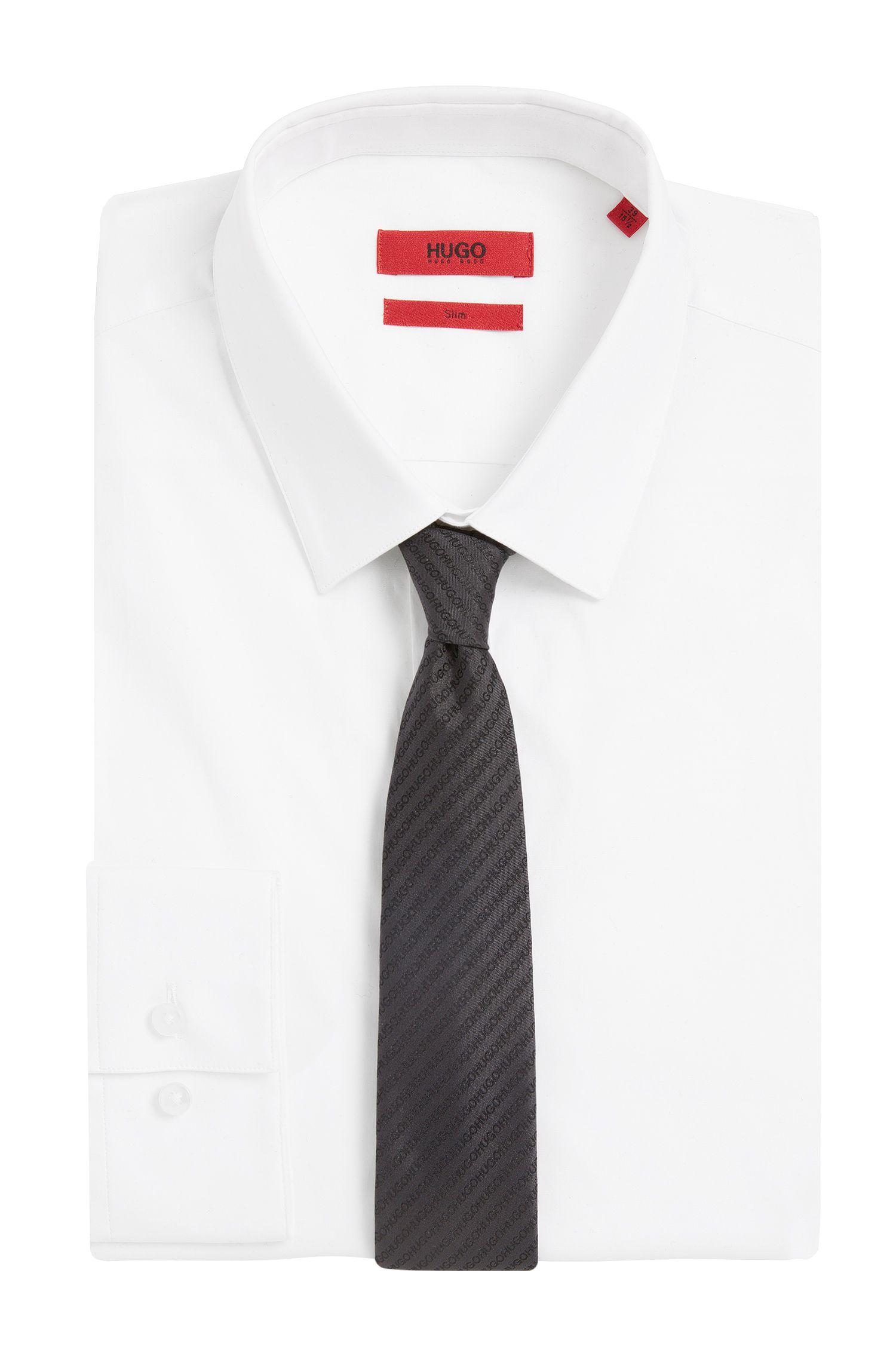 Seidenkrawatte mit Logo-Stickereien: 'Tie cm 6'