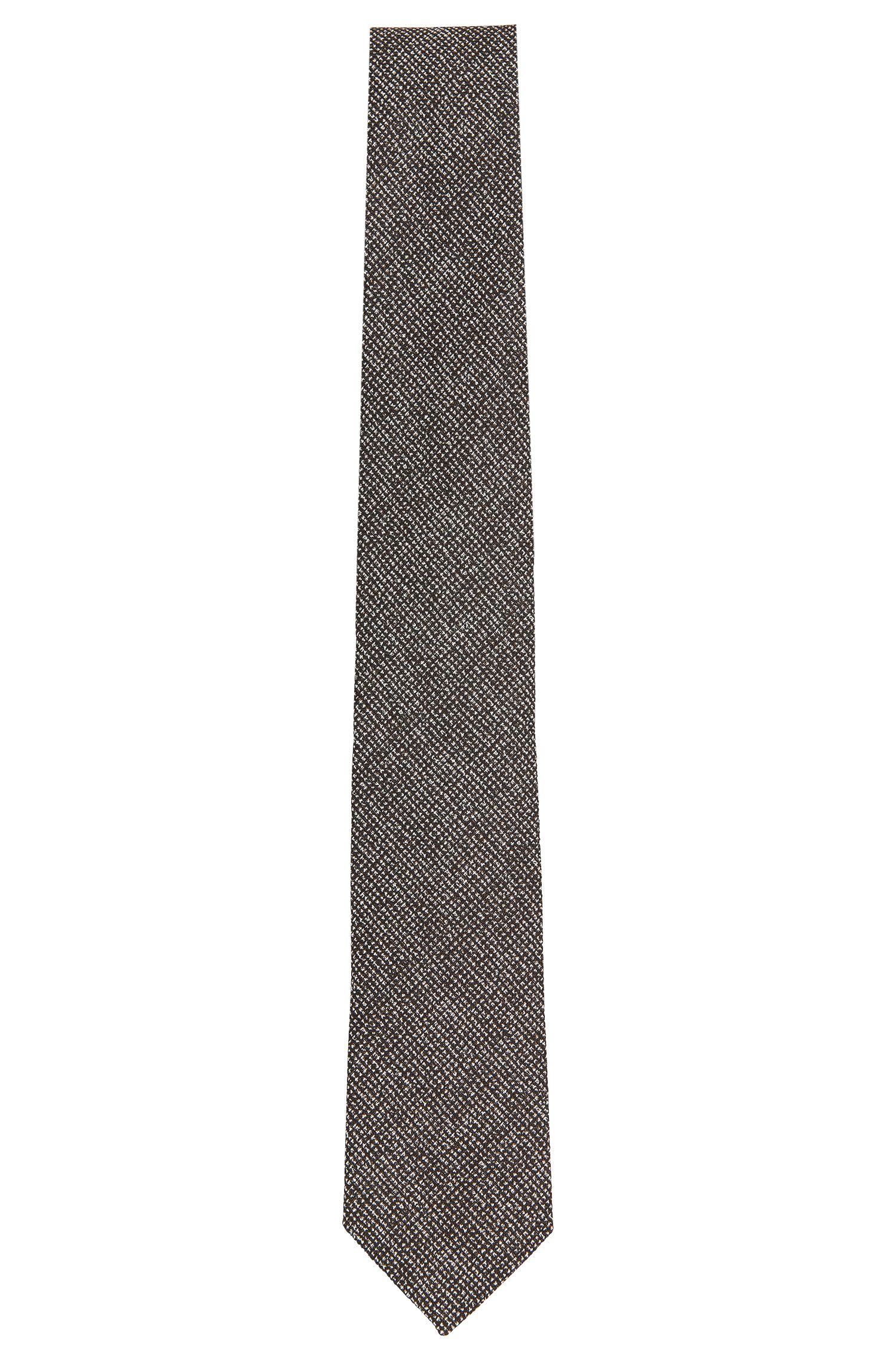 Tailored tie in patterned wool blend with silk: 'T-Tie 6 cm'