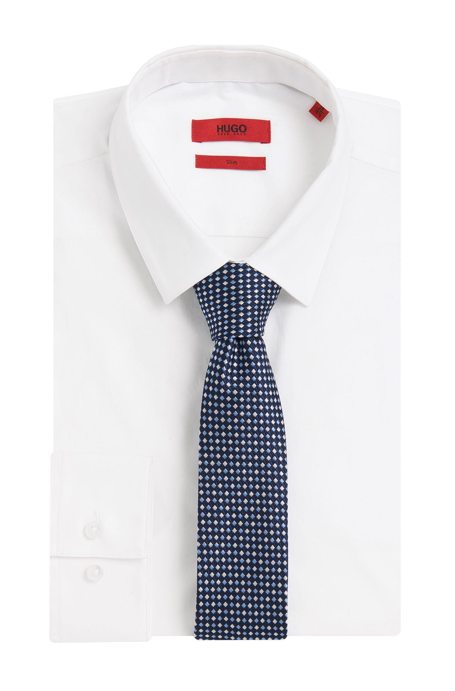 Cravate en soie à motif: «Tie 6 cm»