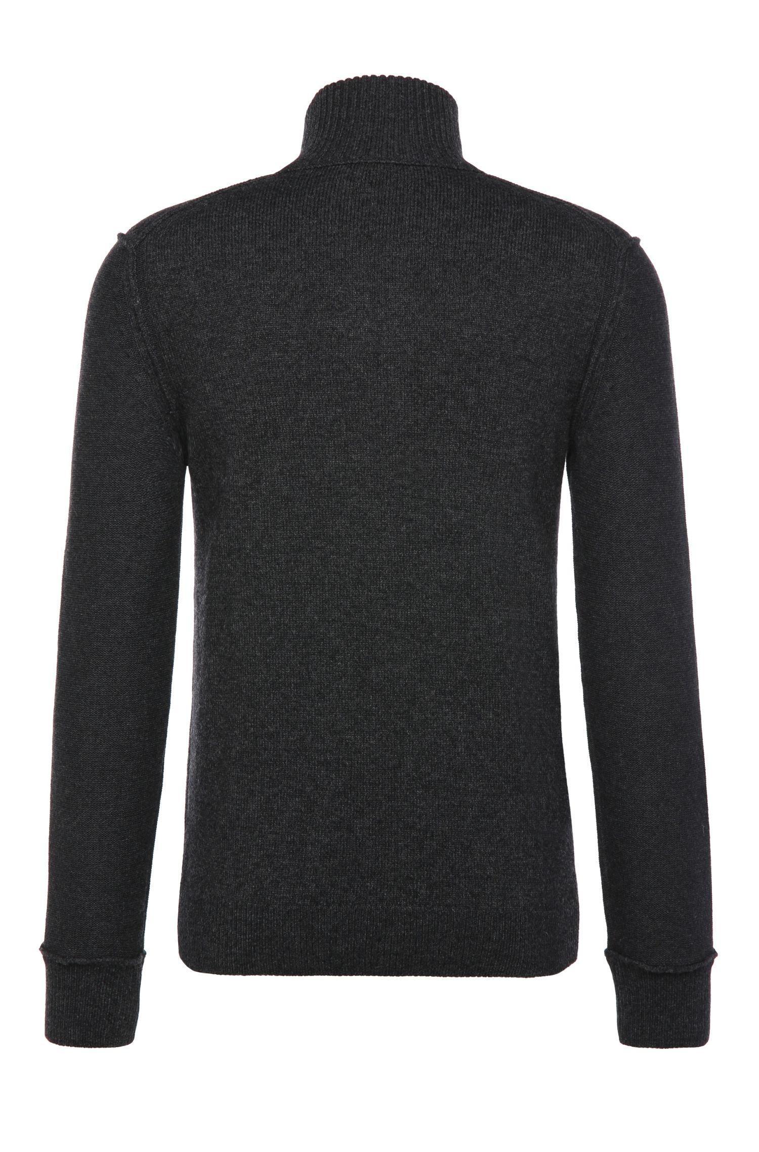 Slim-Fit Pullover aus Baumwoll-Mix mit Wolle: ´Kwemare`