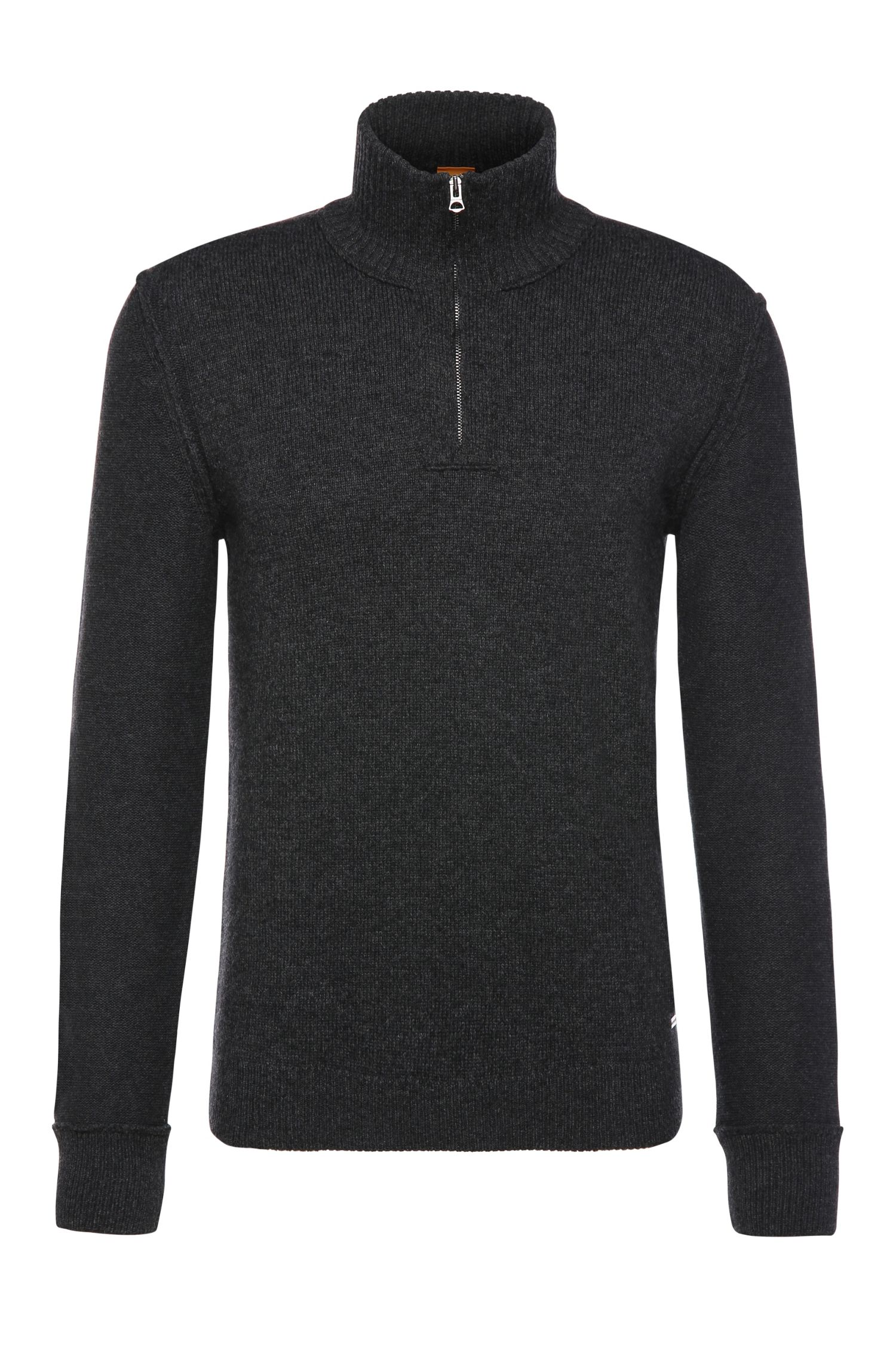 Slim-fit sweater in cotton blend with wool: 'Kwemare'