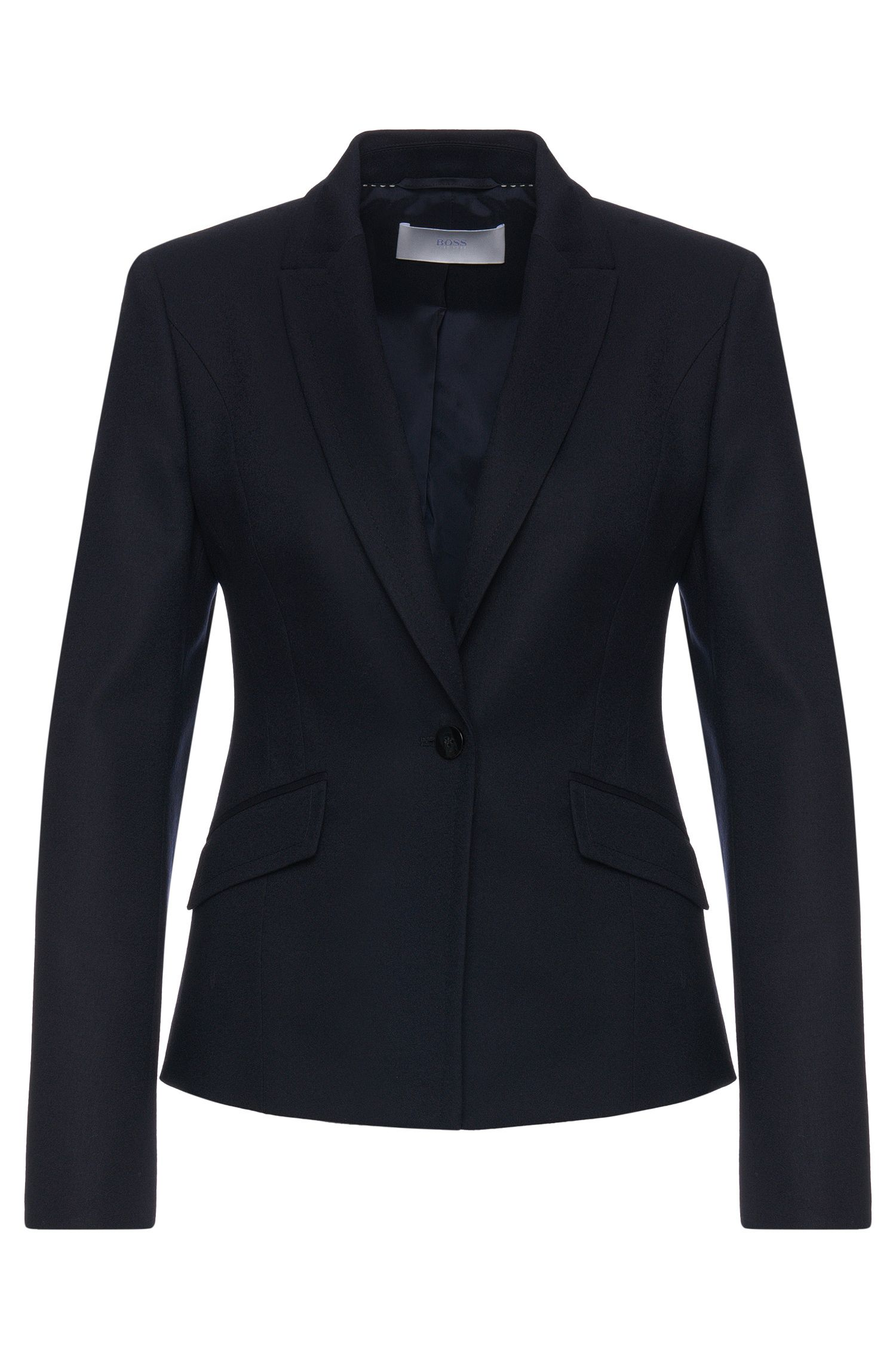 Fitted blazer in stretchy new wool: 'Jobina'