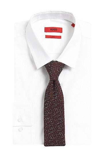 Gemusterte Krawatte aus Seiden-Mix: ''Tie cm 6', Dunkelrot