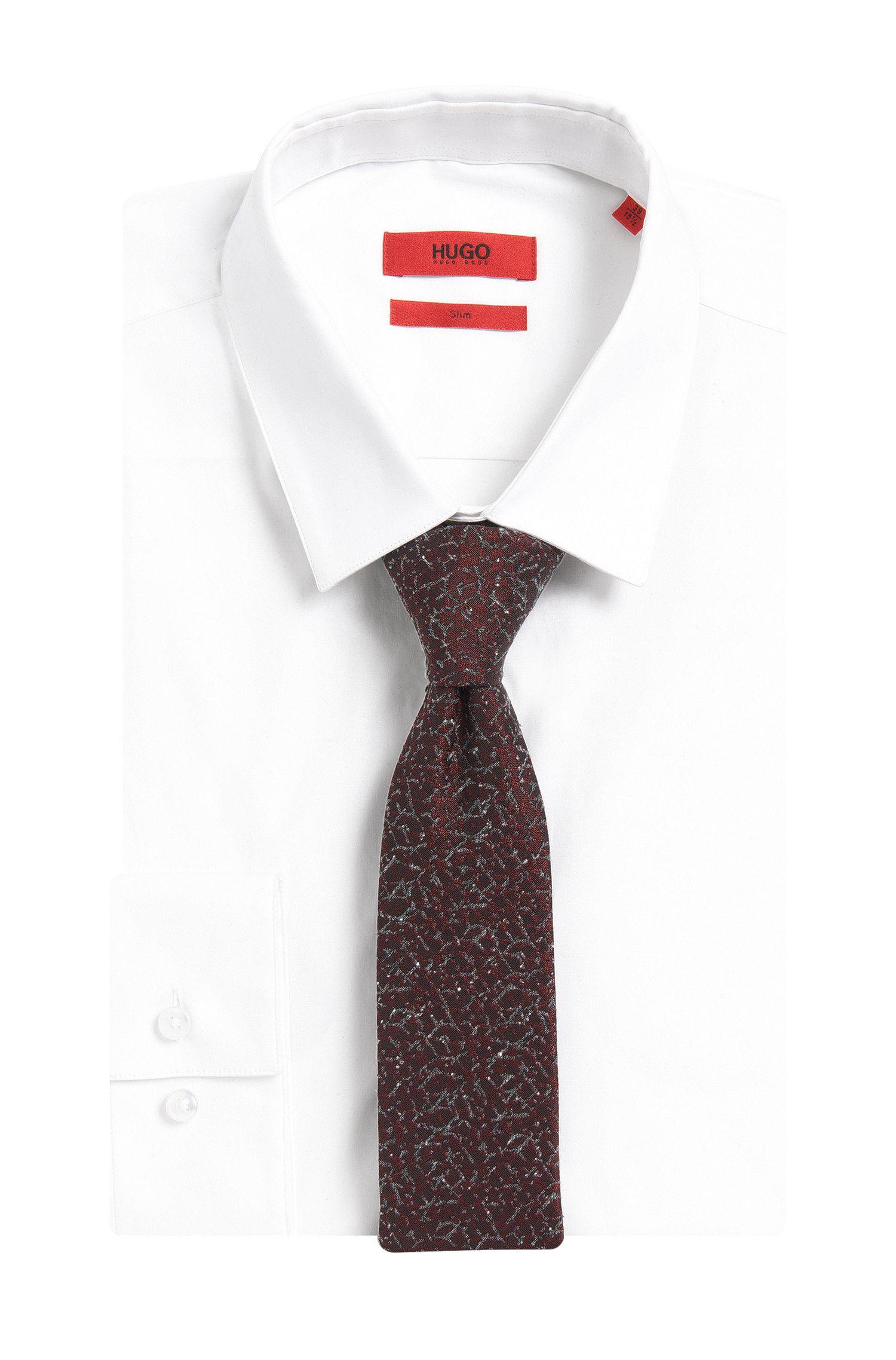 Gemusterte Krawatte aus Seiden-Mix: ''Tie cm 6'