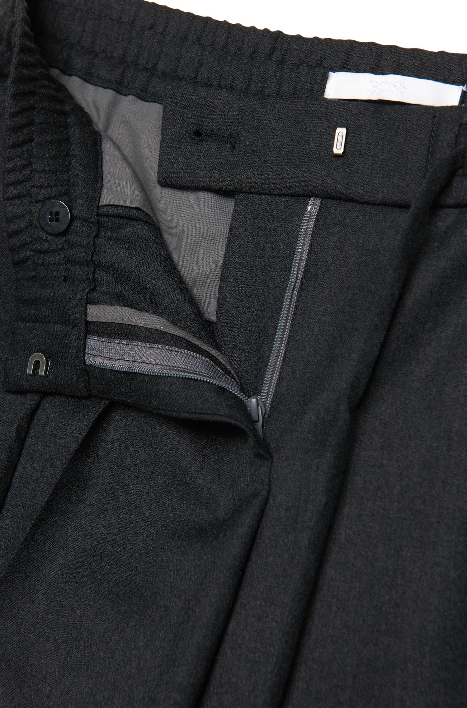 Hose aus Stretch-Schurwolle mit Tunnelzugbund: 'Ariyana8'