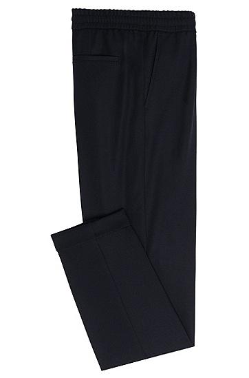 Relaxed-Fit Hose aus Stretch-Schurwolle in Cropped-Länge: 'Ariyana8', Hellblau