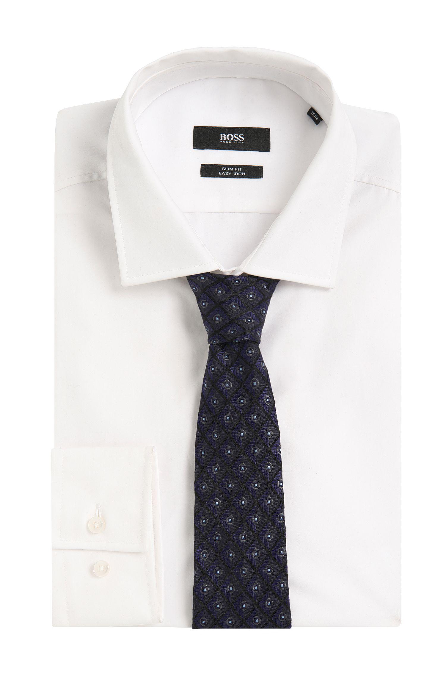 Cravate en pure soie Tailored à motif: «T-Tie 7,5cm»