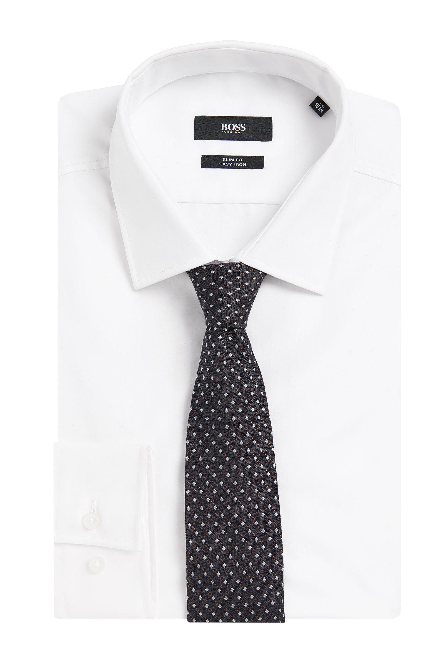 Gemusterte Tailored Krawatte aus reiner Seide: 'Tie 7,5 cm'