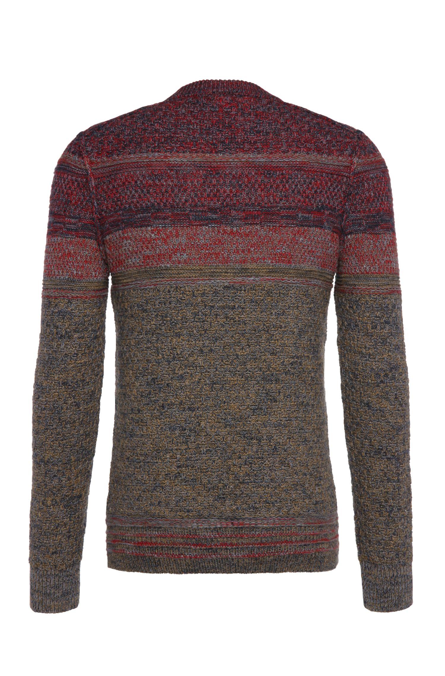 Slim-fit gebreide trui van een katoenmix met scheerwol: 'Agruade'
