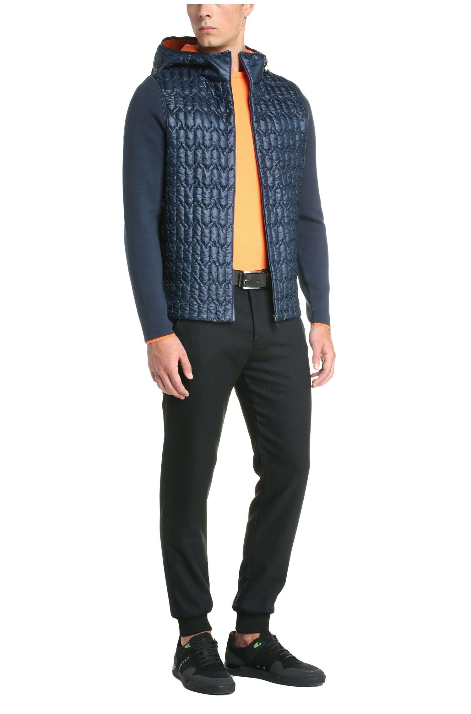 Regular-fit jas van een katoenmix met stiksels: 'Marl'