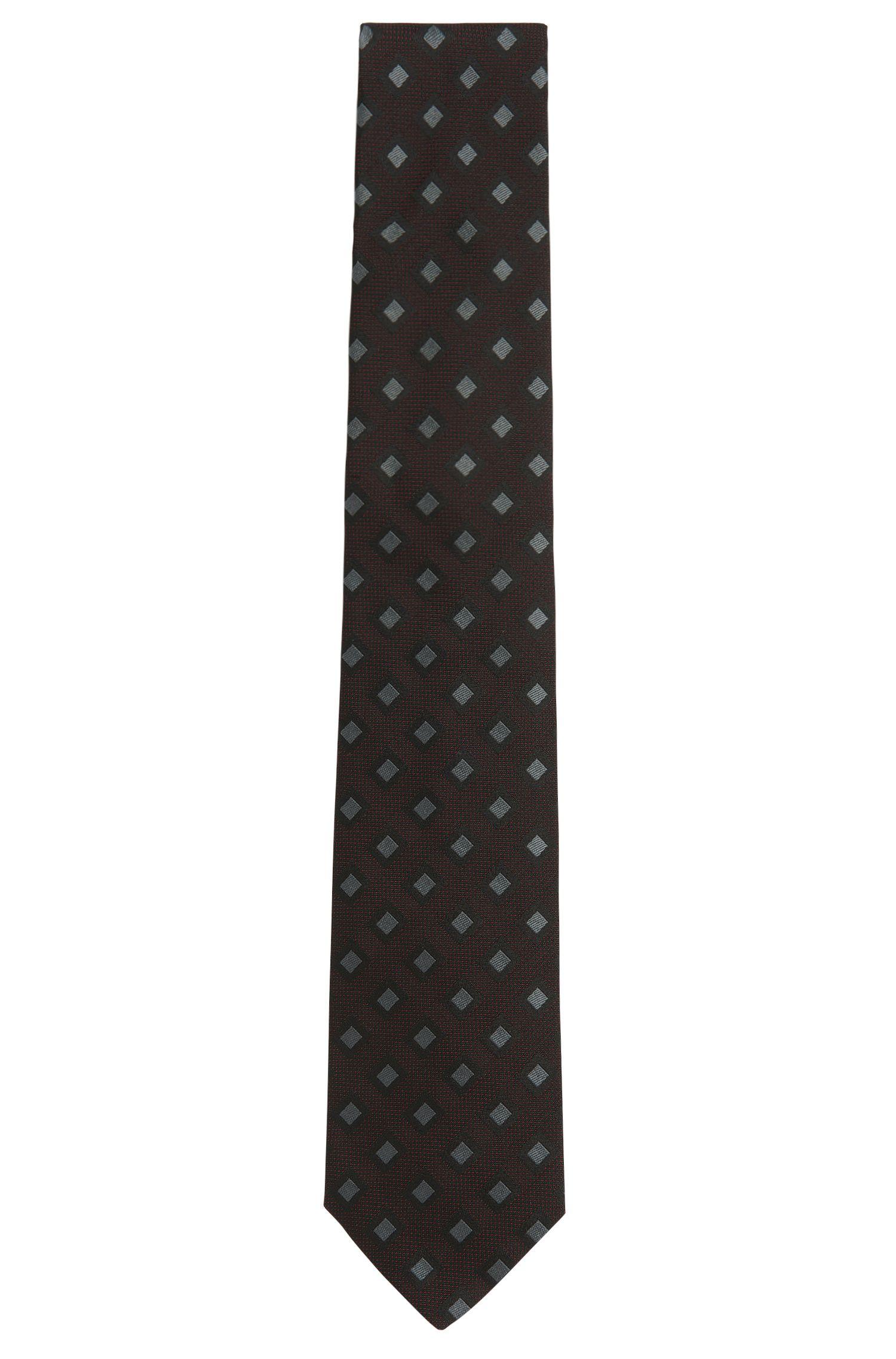 Tailored Krawatte aus Seide mit Rauten-Muster: 'T-Tie 7,5 cm'