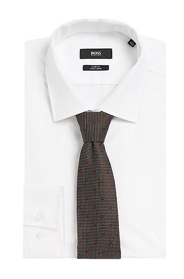 Gemusterte Tailored Krawatte aus reiner Seide: 'T-Tie 7,5 cm', Braun
