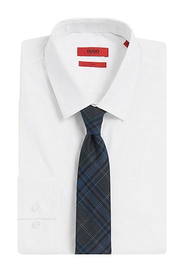 Krawatte aus Schurwolle mit Tartan-Muster: 'Tie cm 6', Blau
