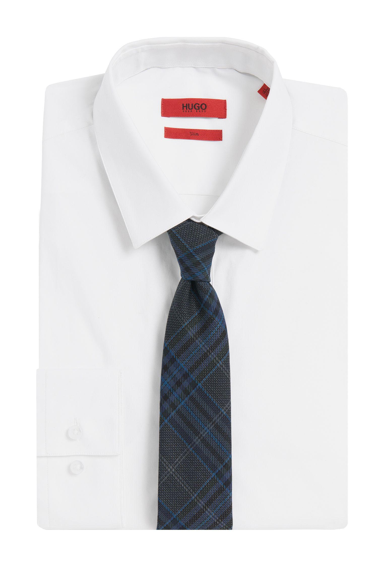 Cravate en laine vierge à motif tartan: «Tie cm6»