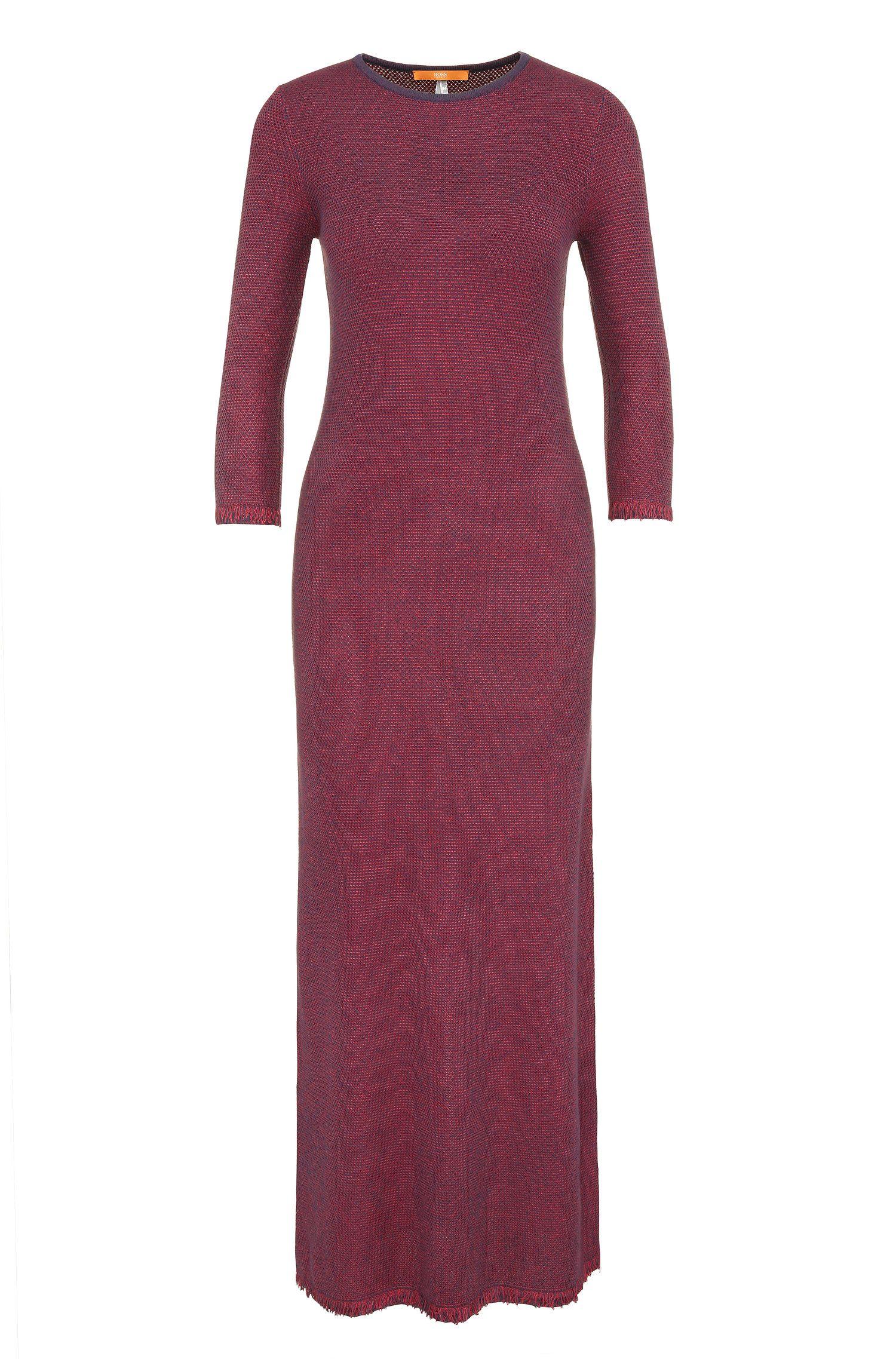 Purl-knit maxi dress in viscose blend: 'Iolana'