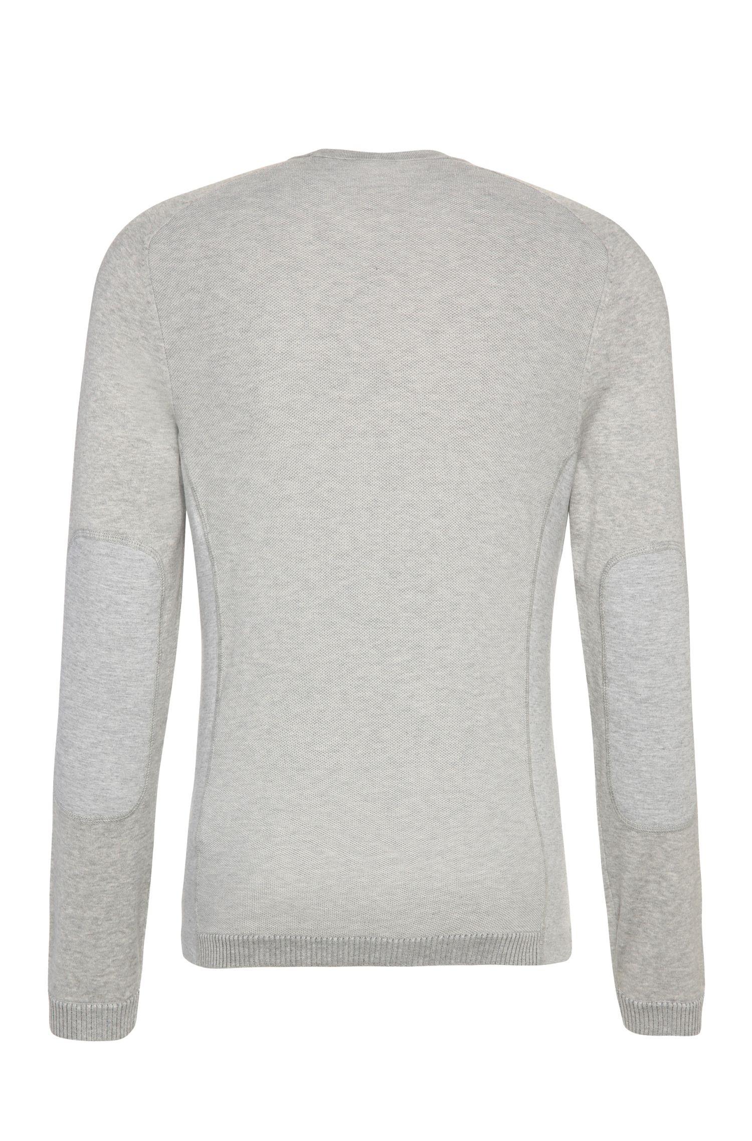 Gebreide trui van een elastische katoenmix: 'Riker'