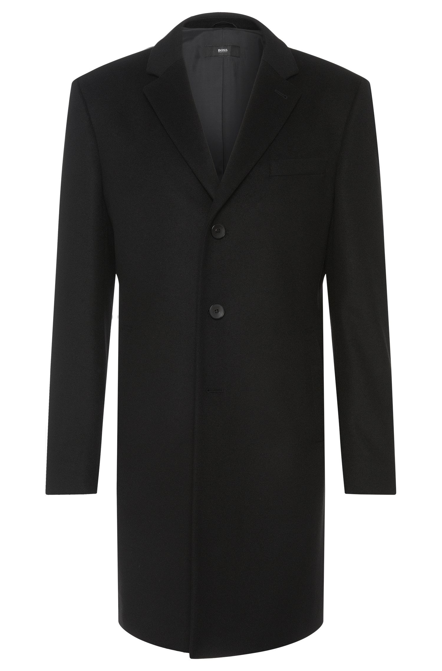 Coat in a new-wool blend with cashmere wool: 'Nye'